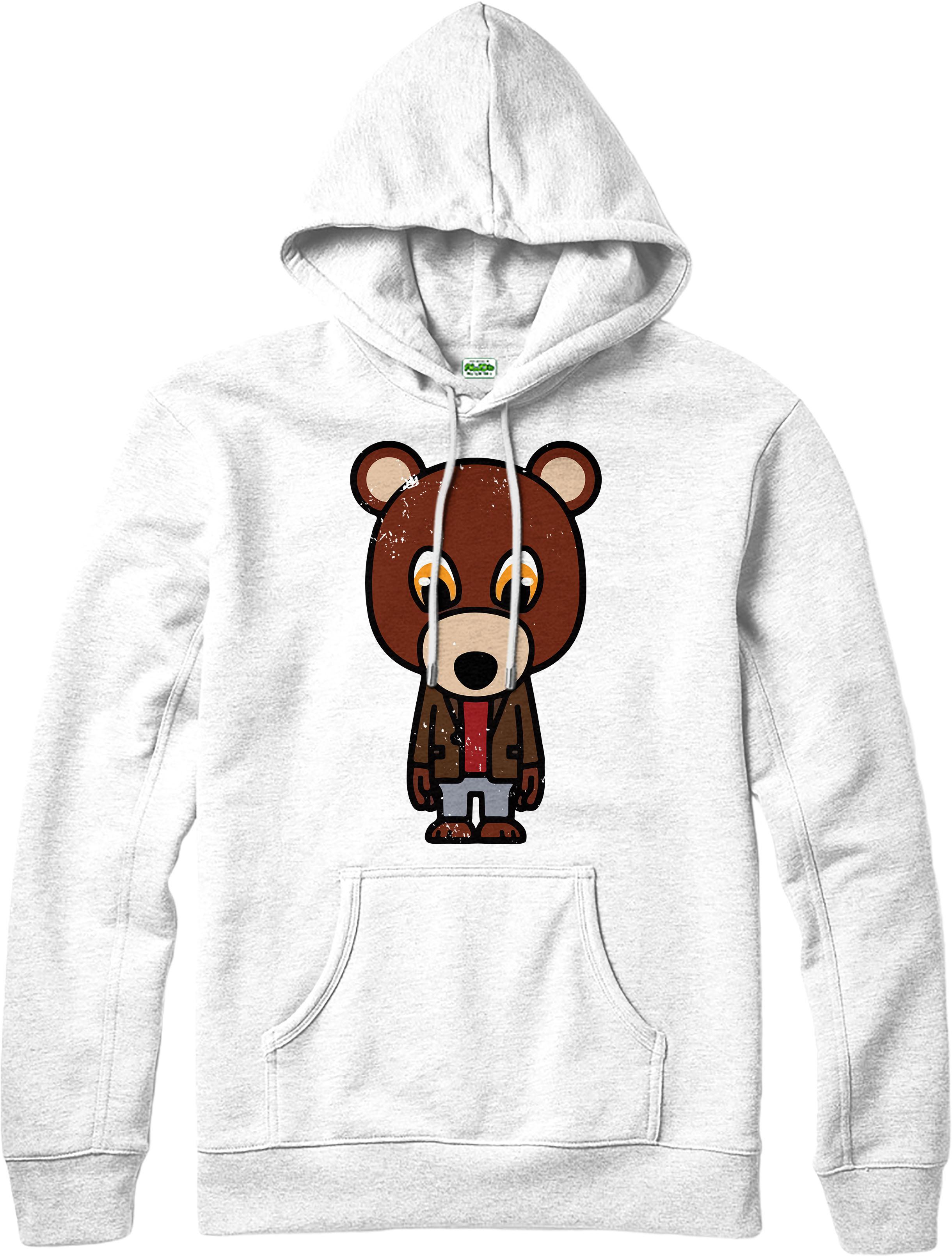 kanye west hoodie rapper graduation dropout bear mask. Black Bedroom Furniture Sets. Home Design Ideas