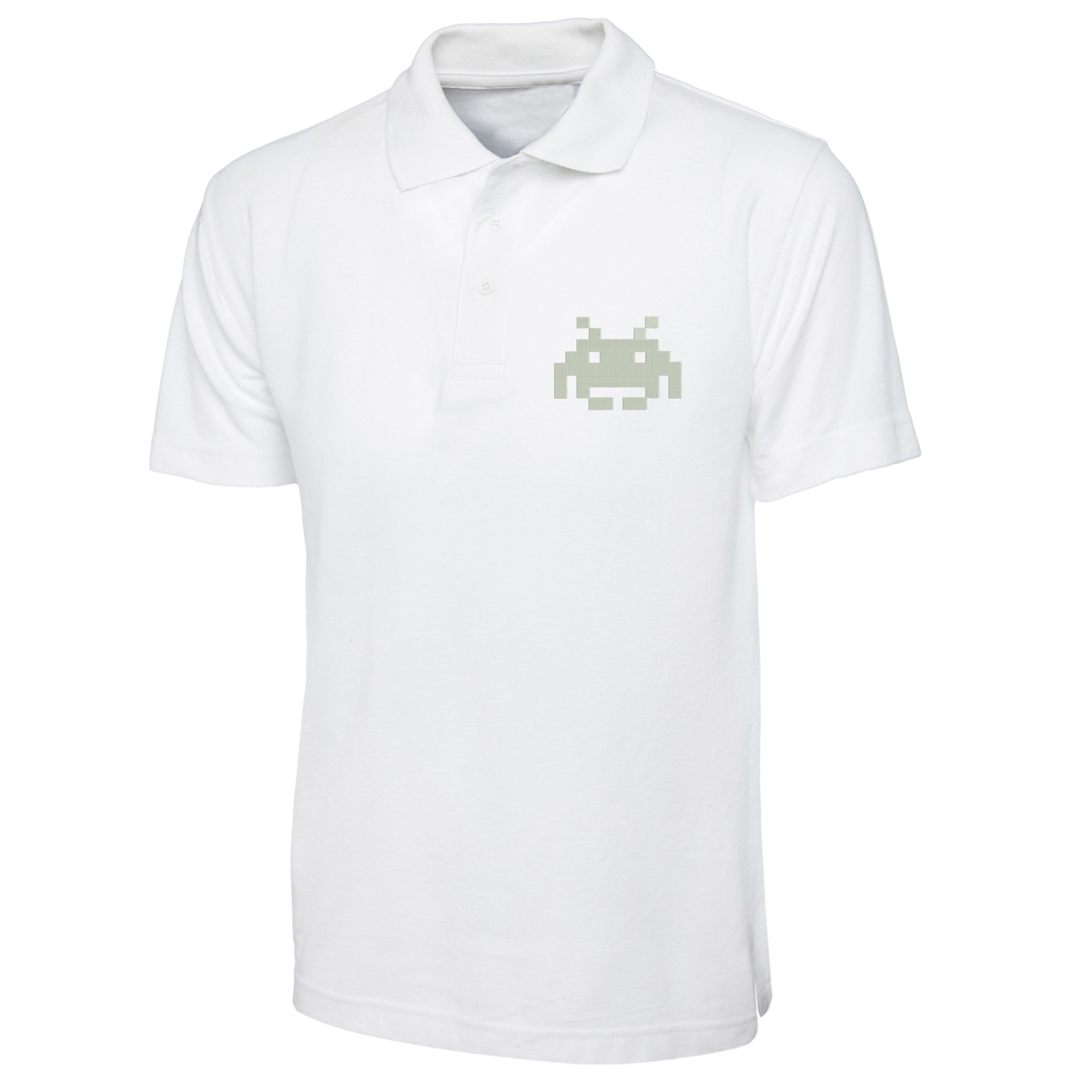 Game-Over-8-bit-Polo-Shirt-Left-Chest-Embroidered-Gift-Polo-Top