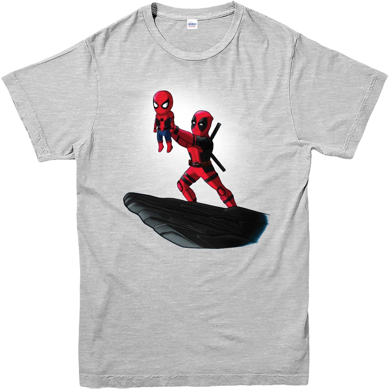 deadpool t shirt spiderman lion king spoof marvel comics adult and kids sizes ebay. Black Bedroom Furniture Sets. Home Design Ideas