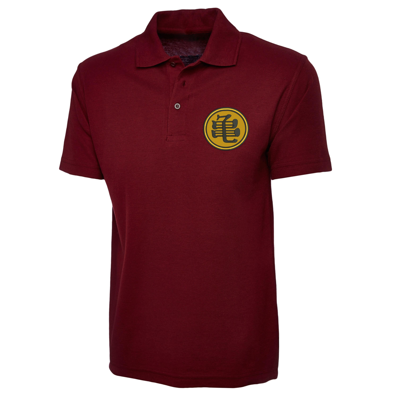 Master Roshis Symbol Polo Shirt Dragon Ball Z Inspired Embroidered