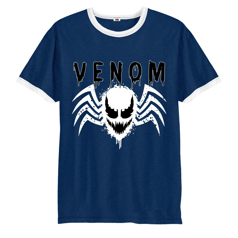 spider man face logo t shirt venom inspired design ringer top ebay rh ebay co uk Superman Logo T-Shirts Logo Star Wars T-Shirts