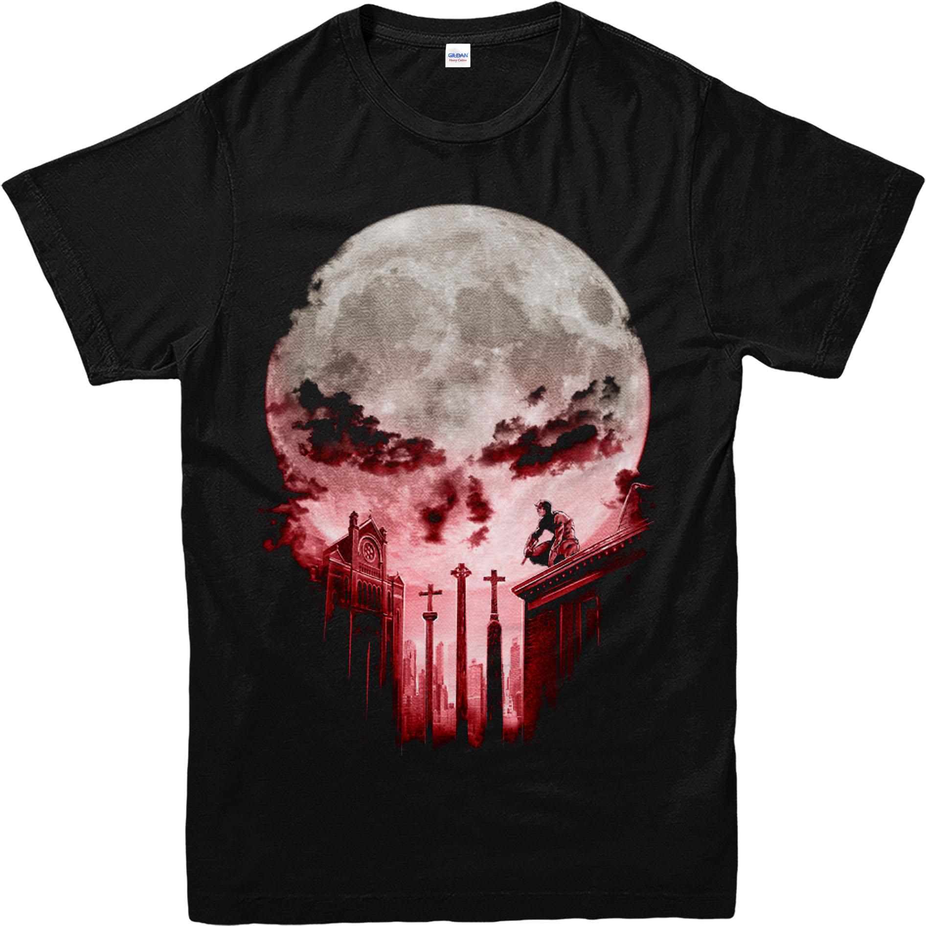 Unisex T Gift Punisher Kids Moon Shirt Top Adultamp; Birthday Yb6yv7fg