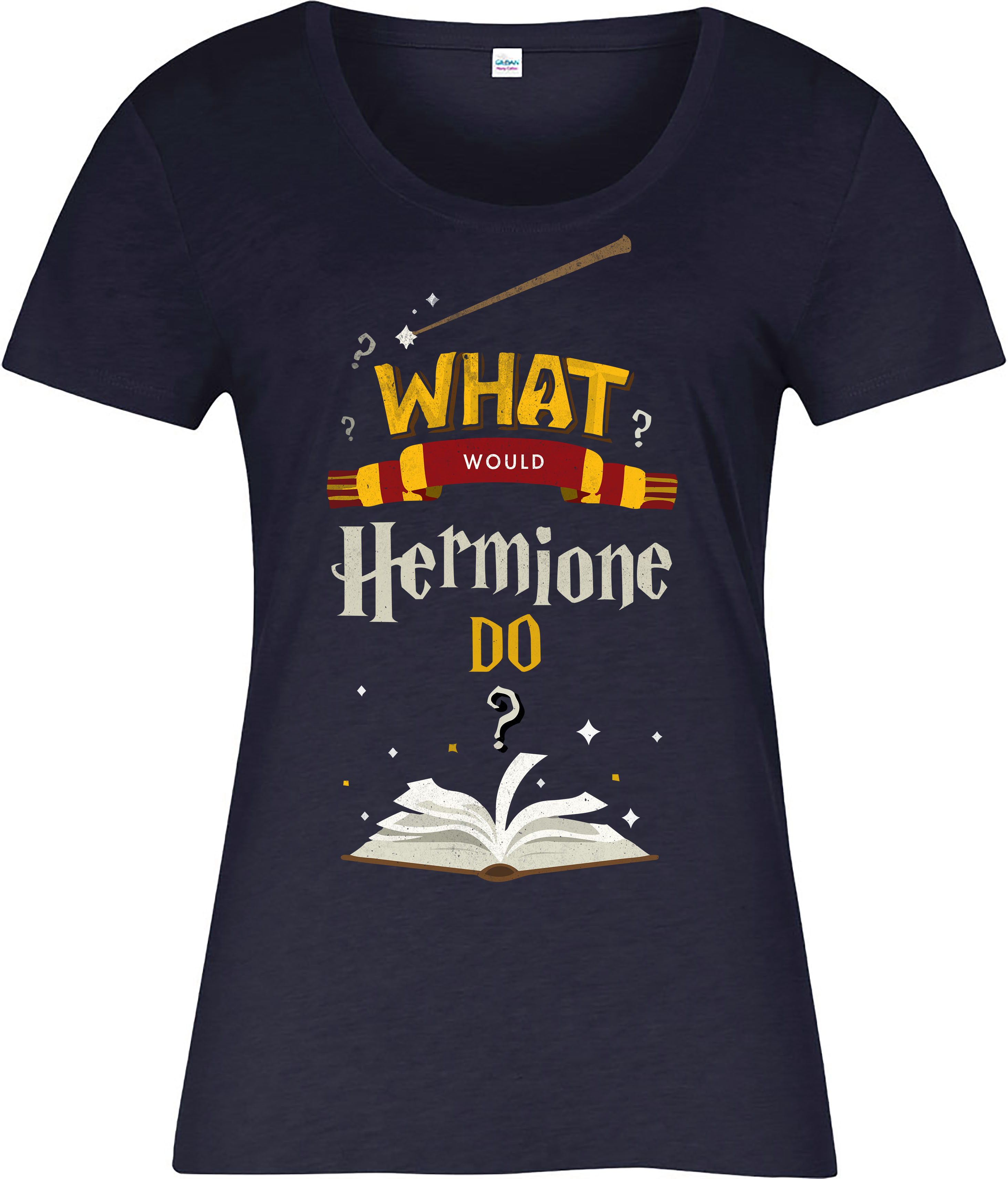 harry potter ladies t shirt what would hermione do inspired design ebay. Black Bedroom Furniture Sets. Home Design Ideas