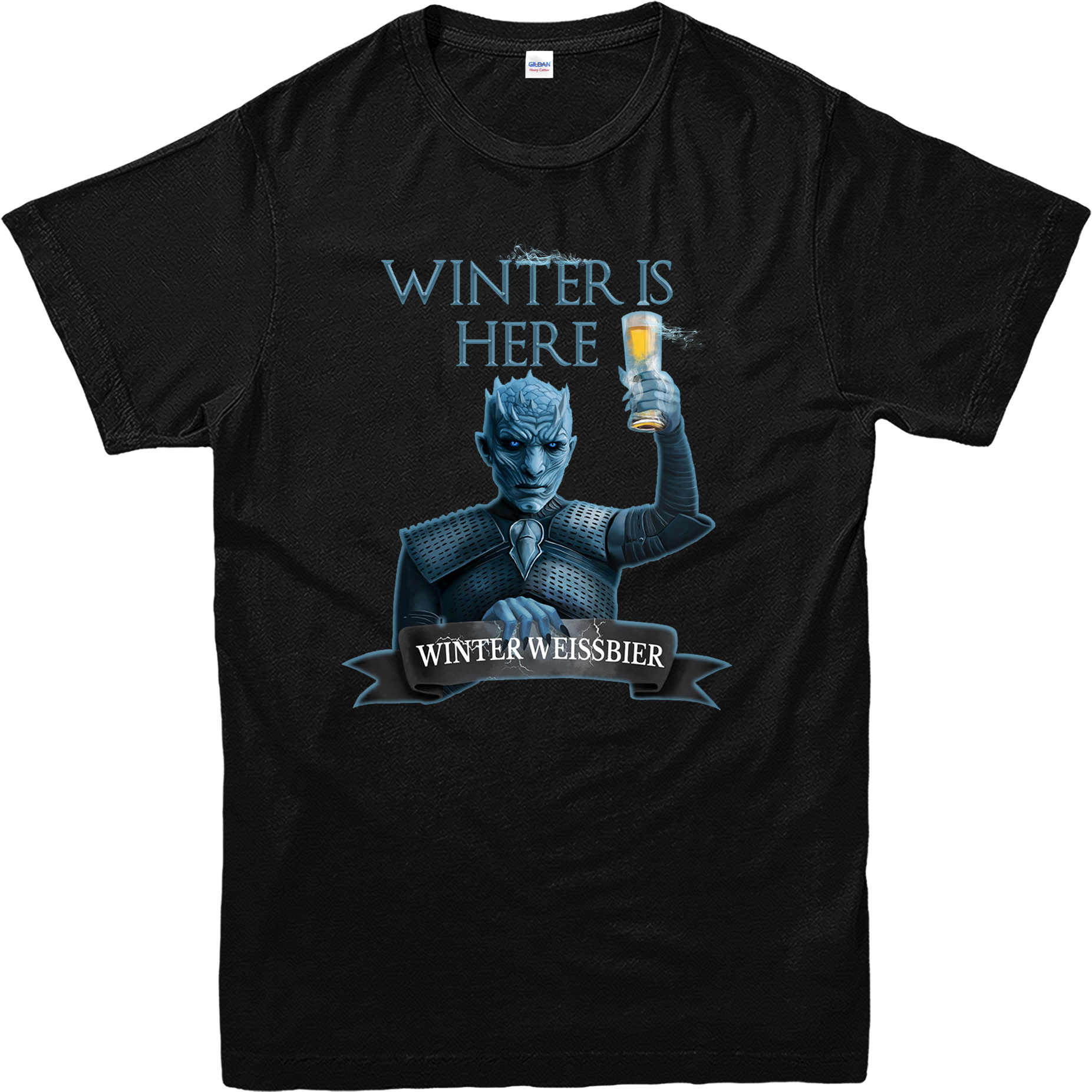 game of thrones t shirt winter is here beer spoof t shirt inspired design top ebay. Black Bedroom Furniture Sets. Home Design Ideas