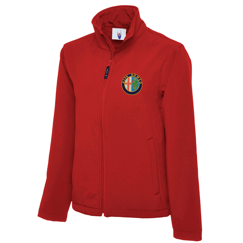 embroidered alfa romeo logo softshell jacket workwear uniform sports top ebay. Black Bedroom Furniture Sets. Home Design Ideas