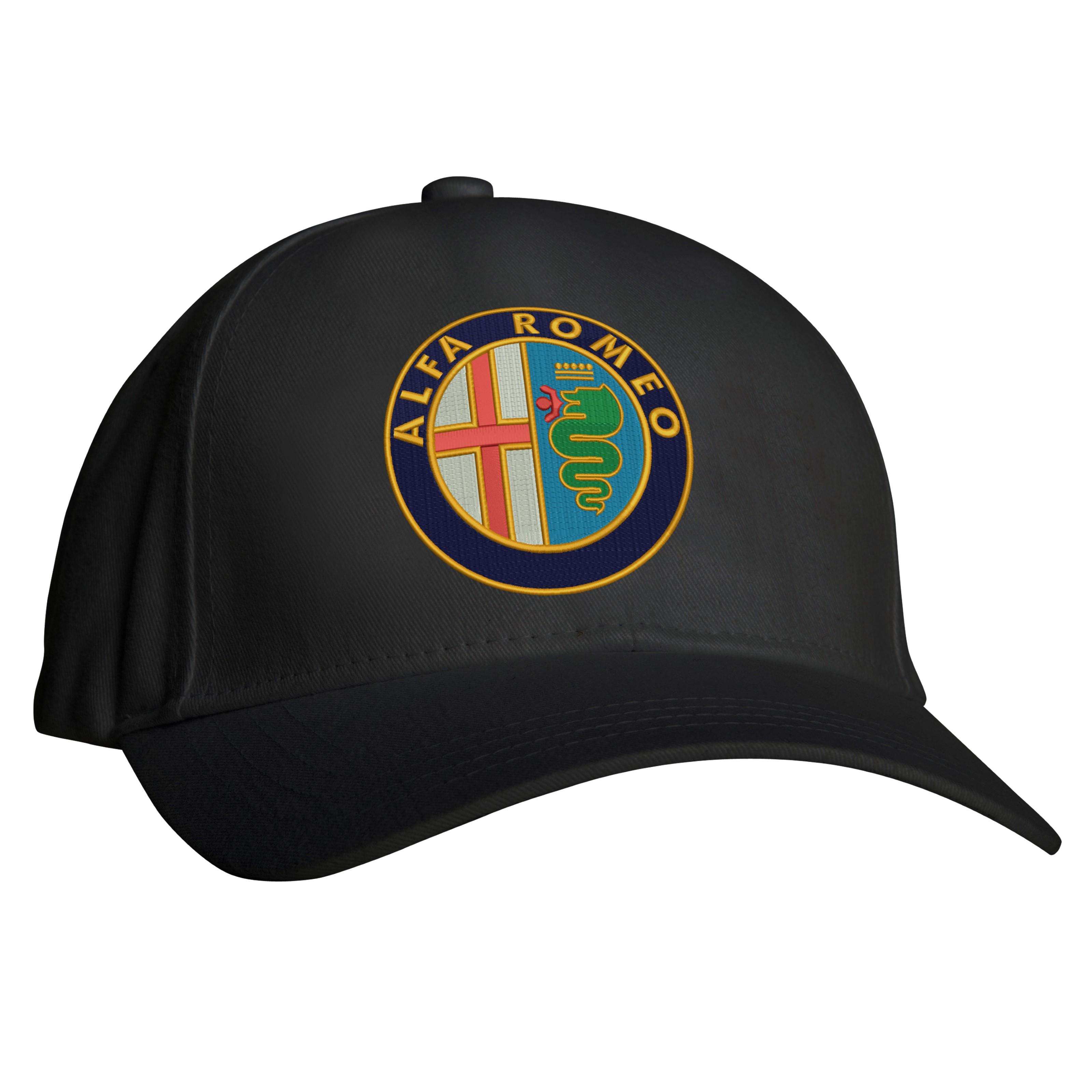 Embroidered Alfa Romeo Logo Baseball Cap Workwear Uniform Sports