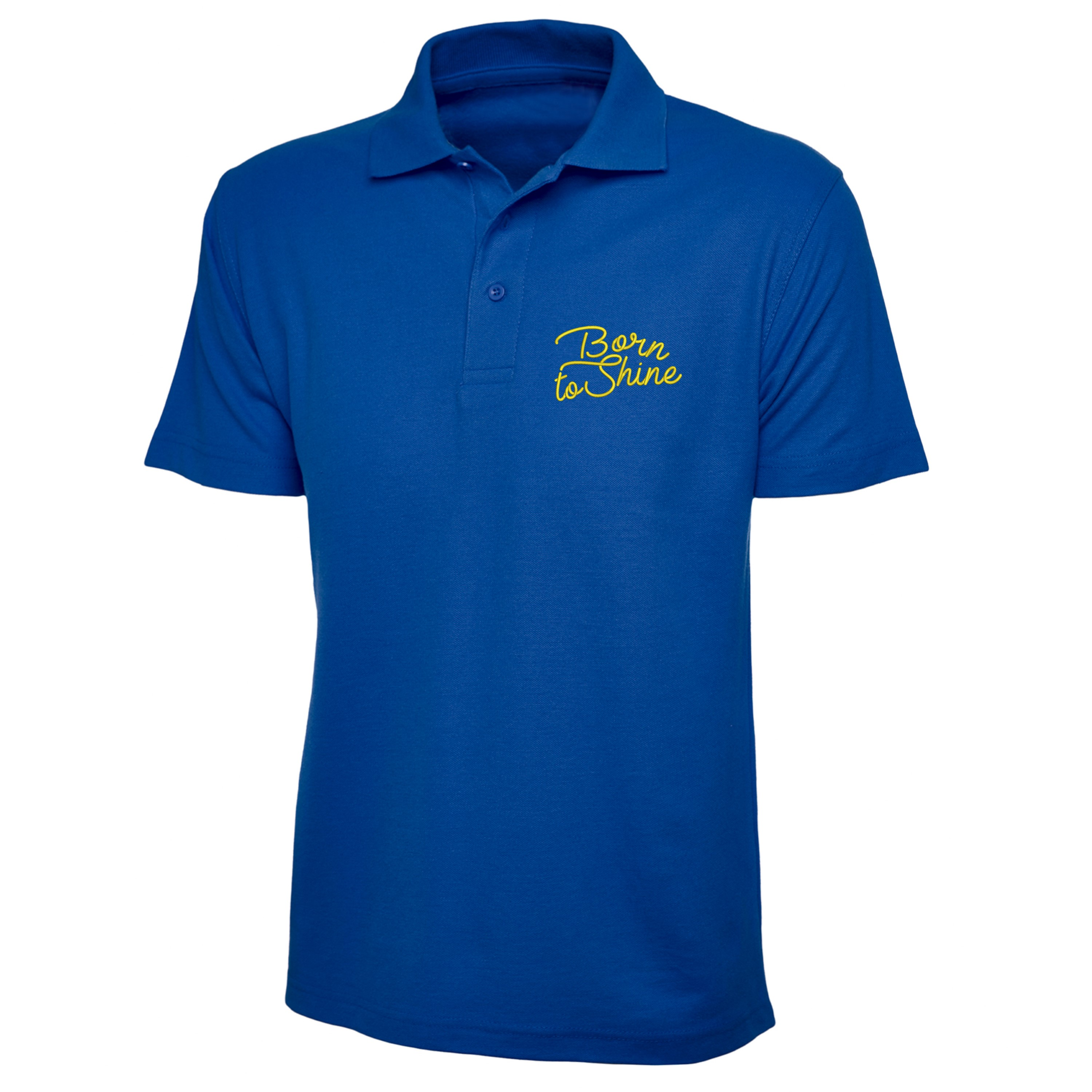 Born-To-Shine-Polo-Shirt-Left-Chest-Embroidered-Gift-Polo-Top