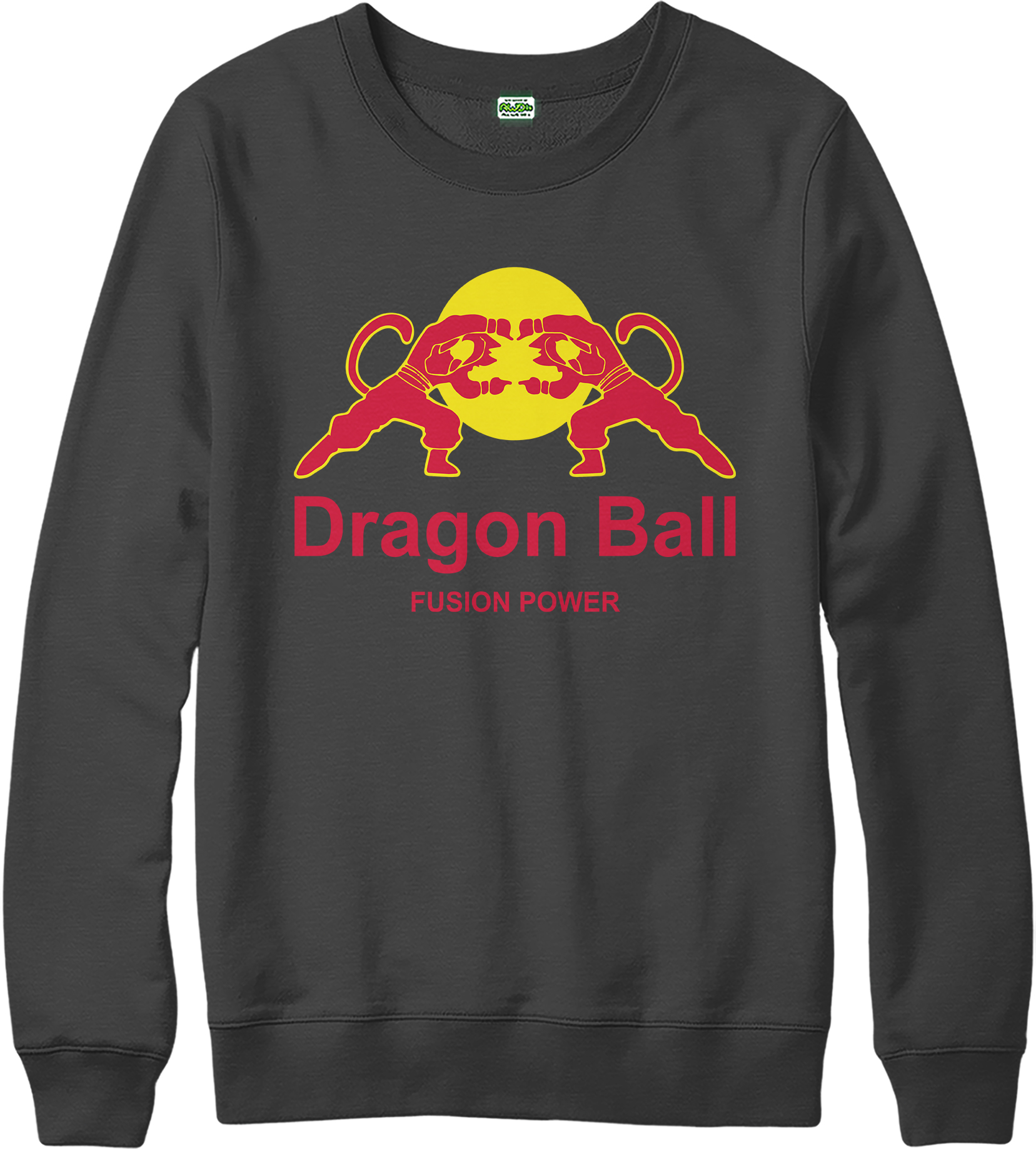 dragon ball z jumper red bull spoof jumper goku superhero top ebay. Black Bedroom Furniture Sets. Home Design Ideas