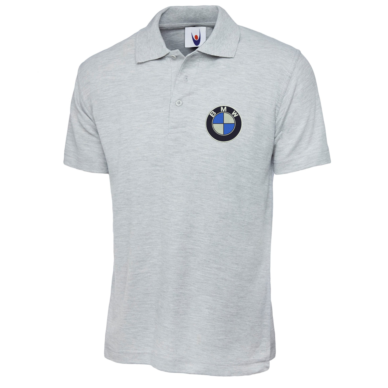 Embroidered bmw logo polo shirt workwear uniform bmw m for Logo printed polo shirts