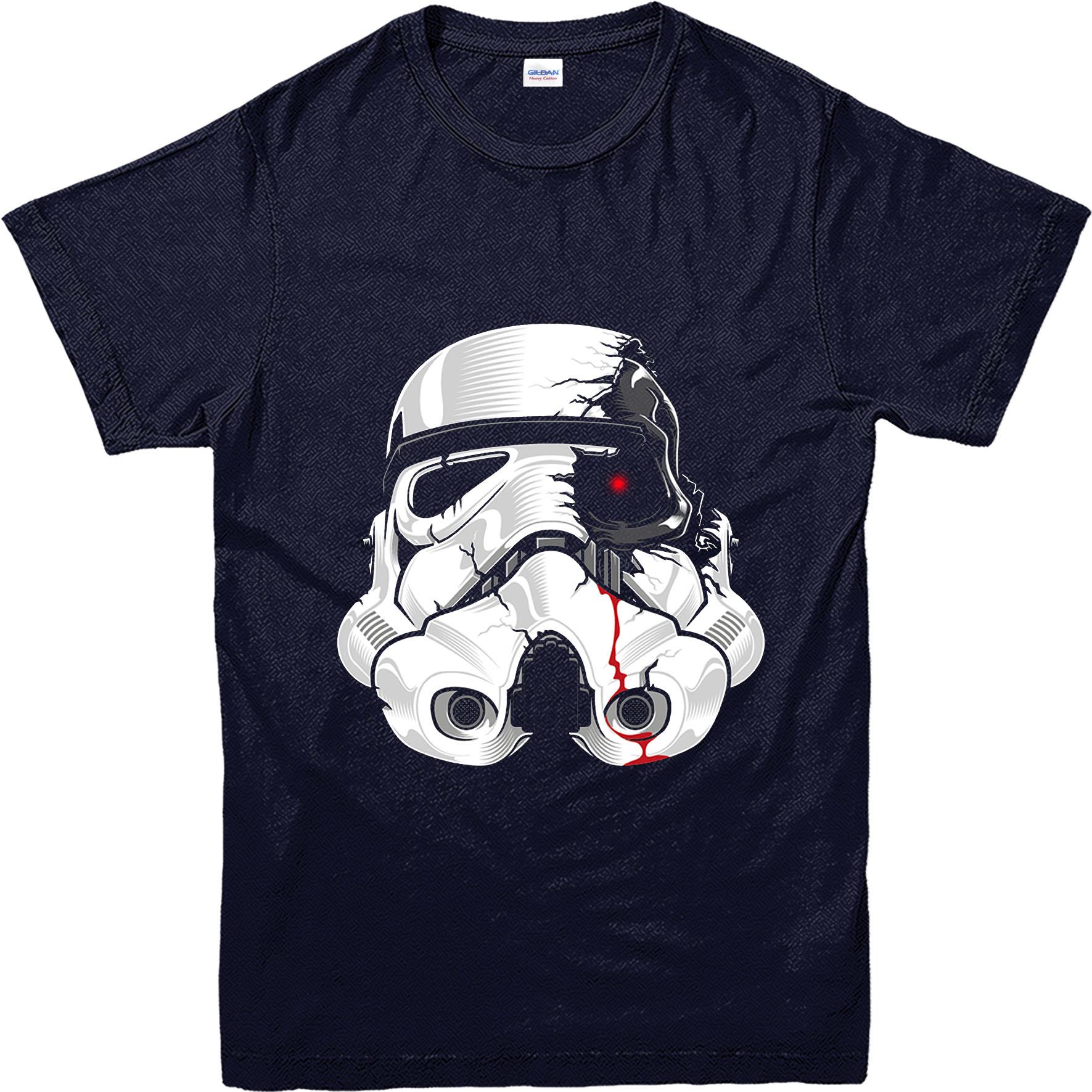 star wars t shirt stormtrooper terminator spoof inspired design top swtms ebay. Black Bedroom Furniture Sets. Home Design Ideas