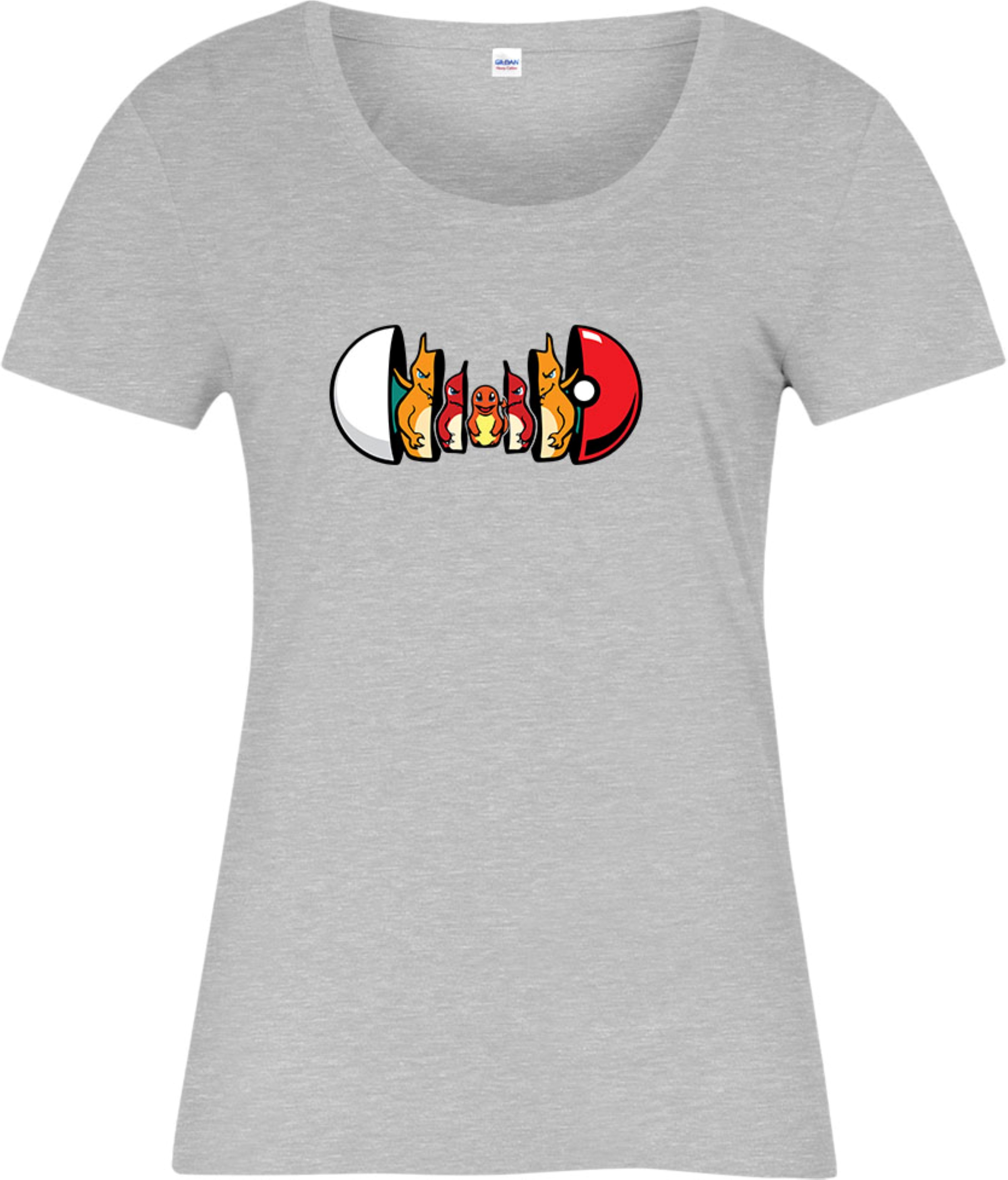 Pokemon Ladies T-shirt Charmander Forms Pokeball Ken Sugimori Top ...