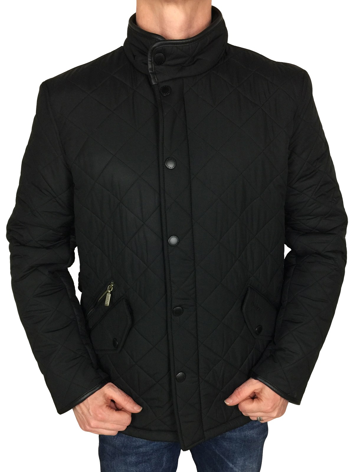 BARBOUR-INTERNATIONAL-Linea-Uomo-Giacca-Trapuntata-Powell-in-Nero-S-M-L-XL-XXL-3XL