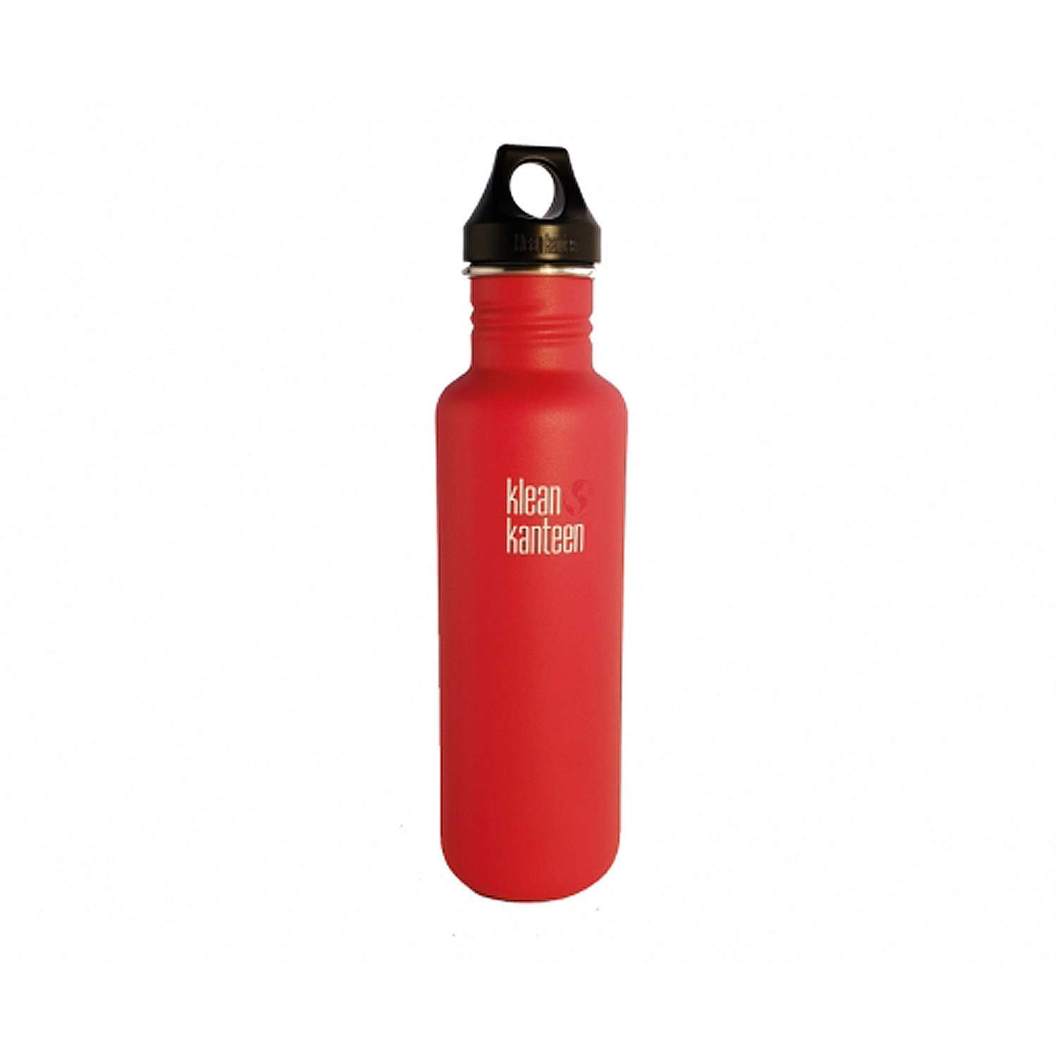 Details about klean kanteen classic 800ml post box red drink bottle with loop cap
