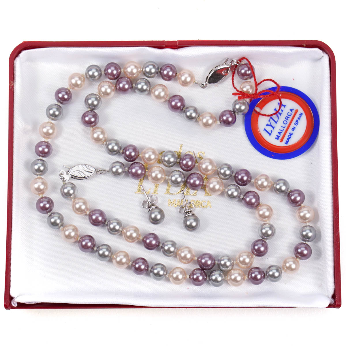 Mallorca Pearl Necklace: Perlas Lydia Mallorca Pearl Necklace Bracelet Earrings