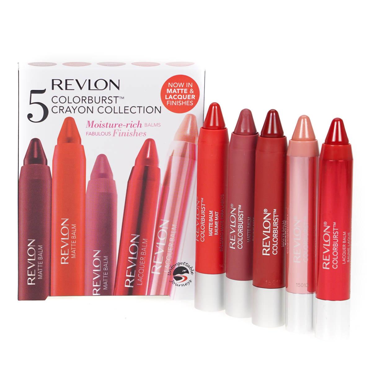 Revlon 5 Color Burst Crayon Set Moisture Rich Chunky Lip