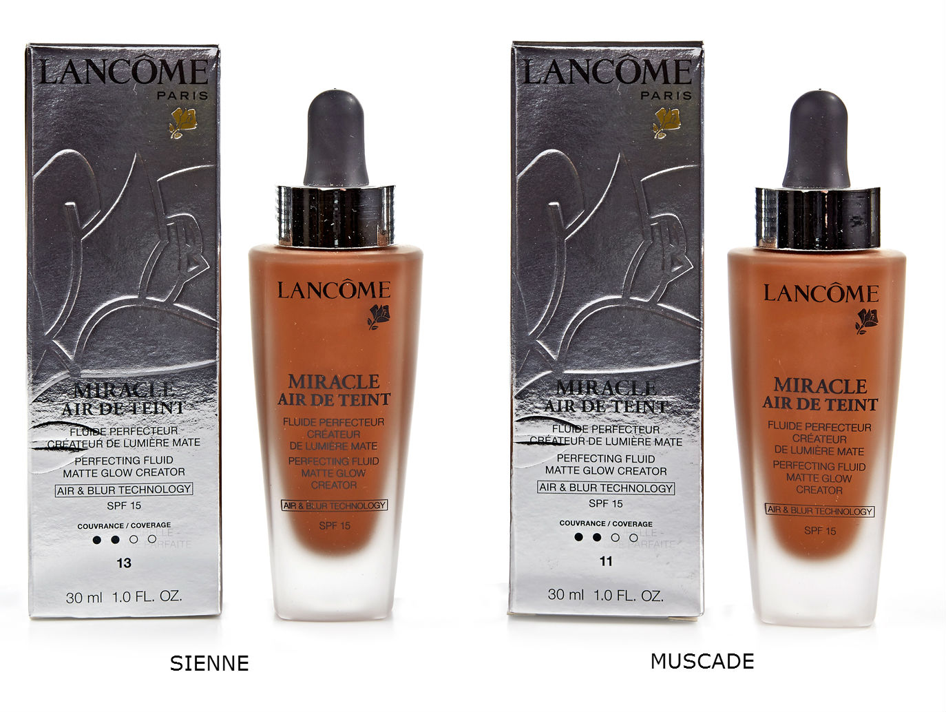 lancome miracle air de teint flawless foundation 13 sienne. Black Bedroom Furniture Sets. Home Design Ideas