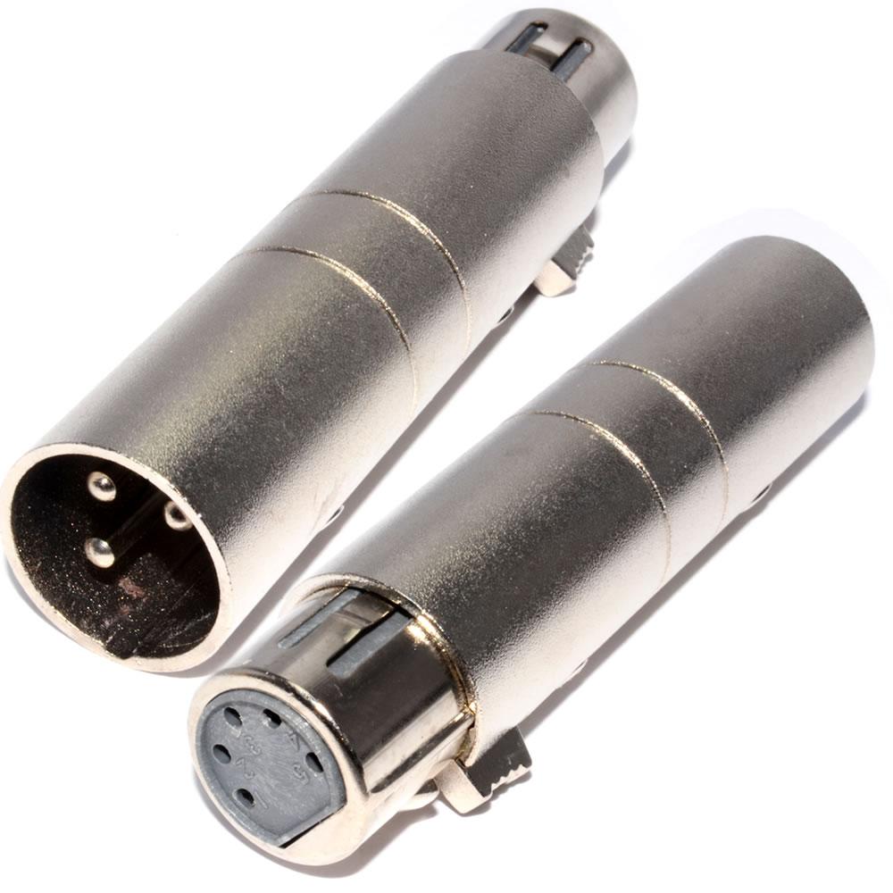 3 Pin Xlr To 5 Pin Dmx Metal Cased Converter Audio