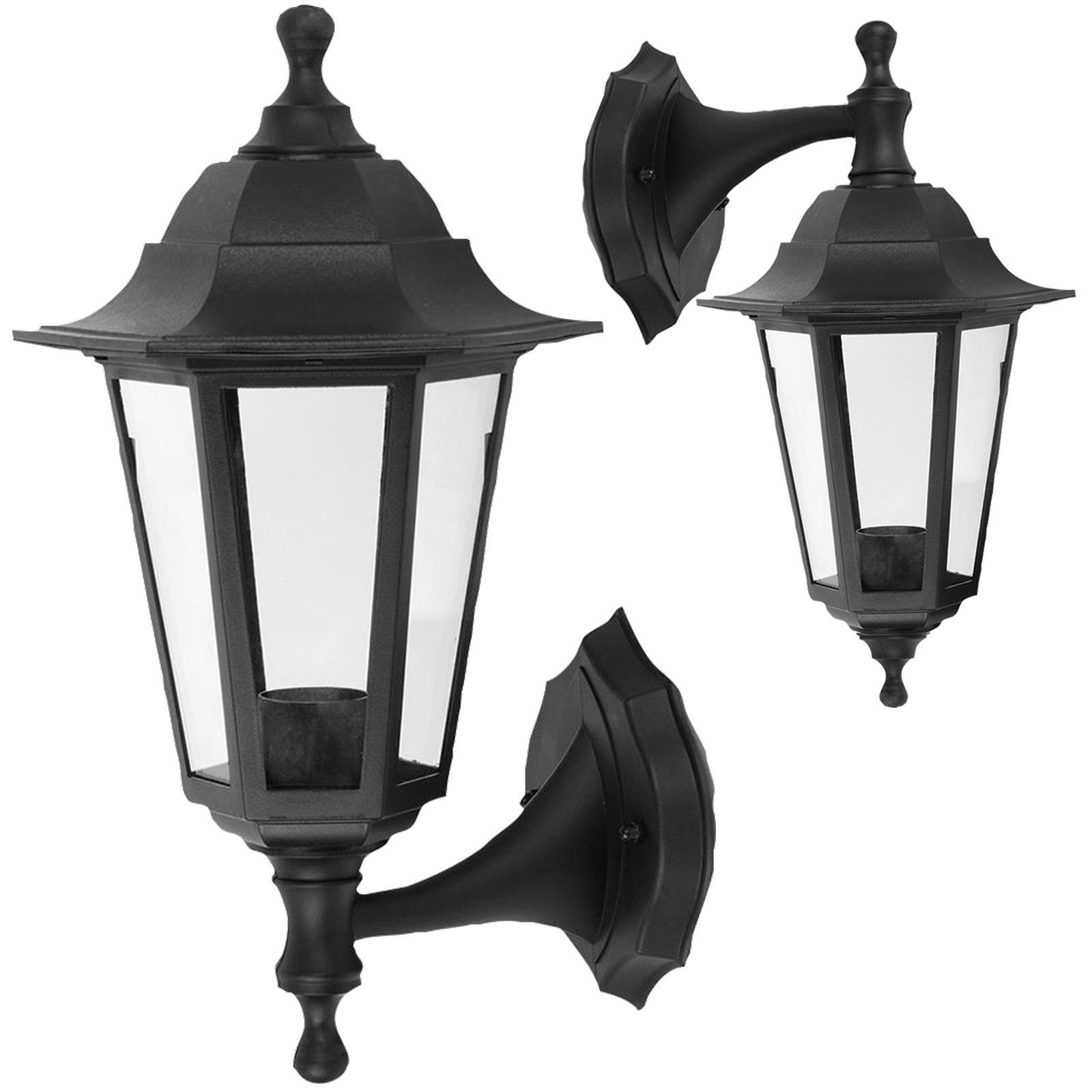 Wandhalterung Außen Laterne Stil Lampe Garten Licht 250x165 schwarz ...