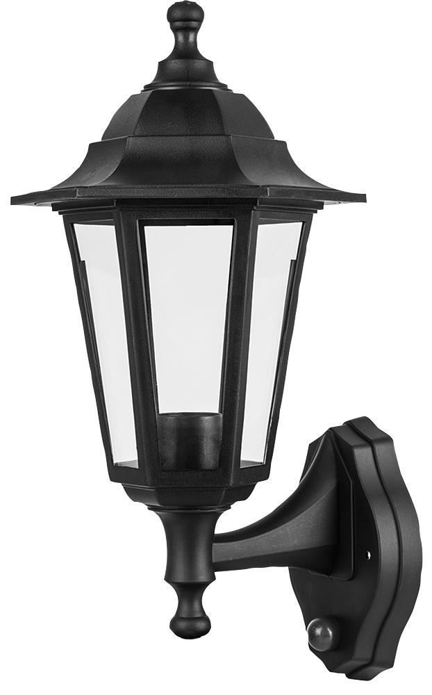 Wall Mounted Lamp Outdoor Garden Light With Night And Day Sensor Black
