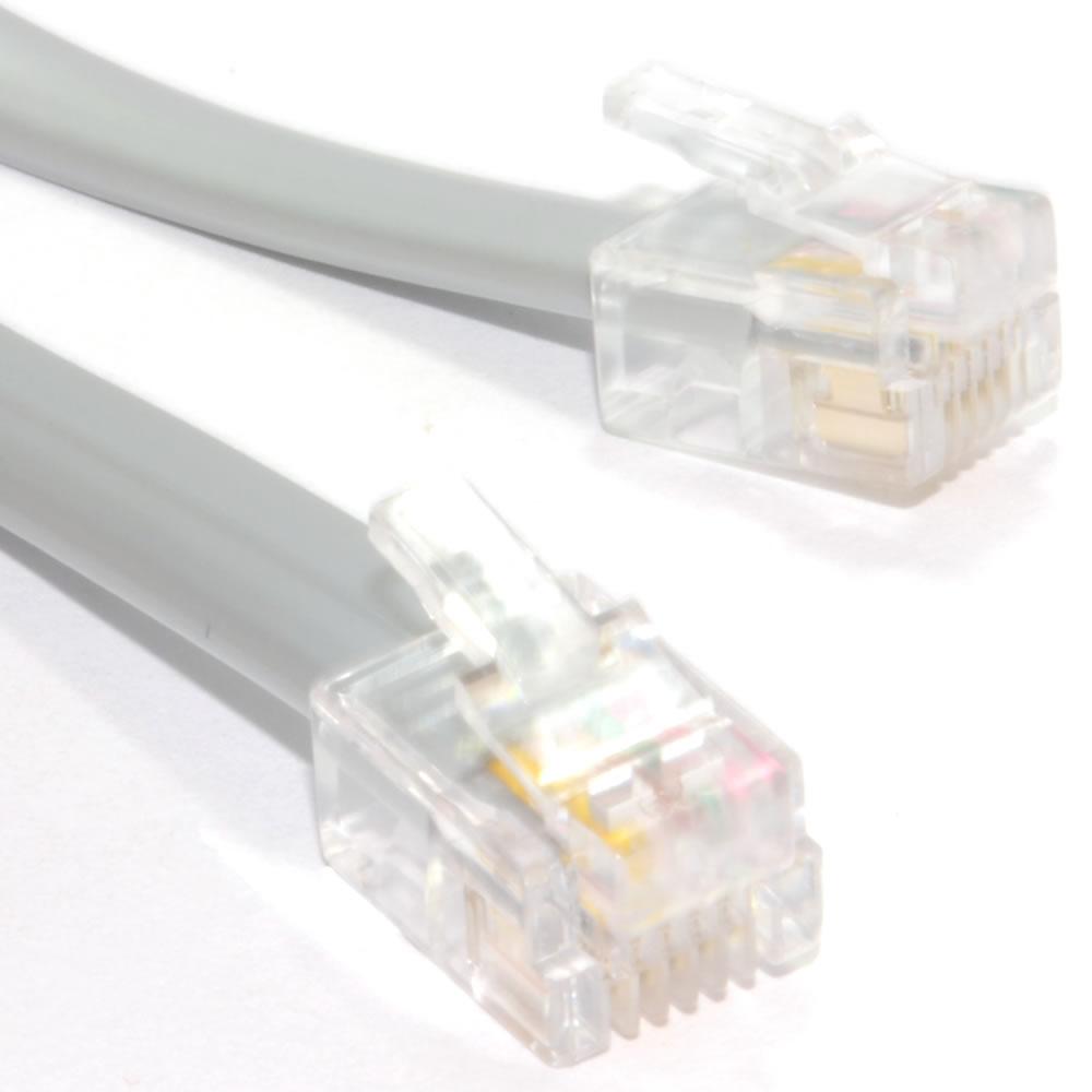 FLAT RJ12 6P6C to RJ12 6P6C Cable Plug to Plug (RJ11 with 6 wire) | eBay