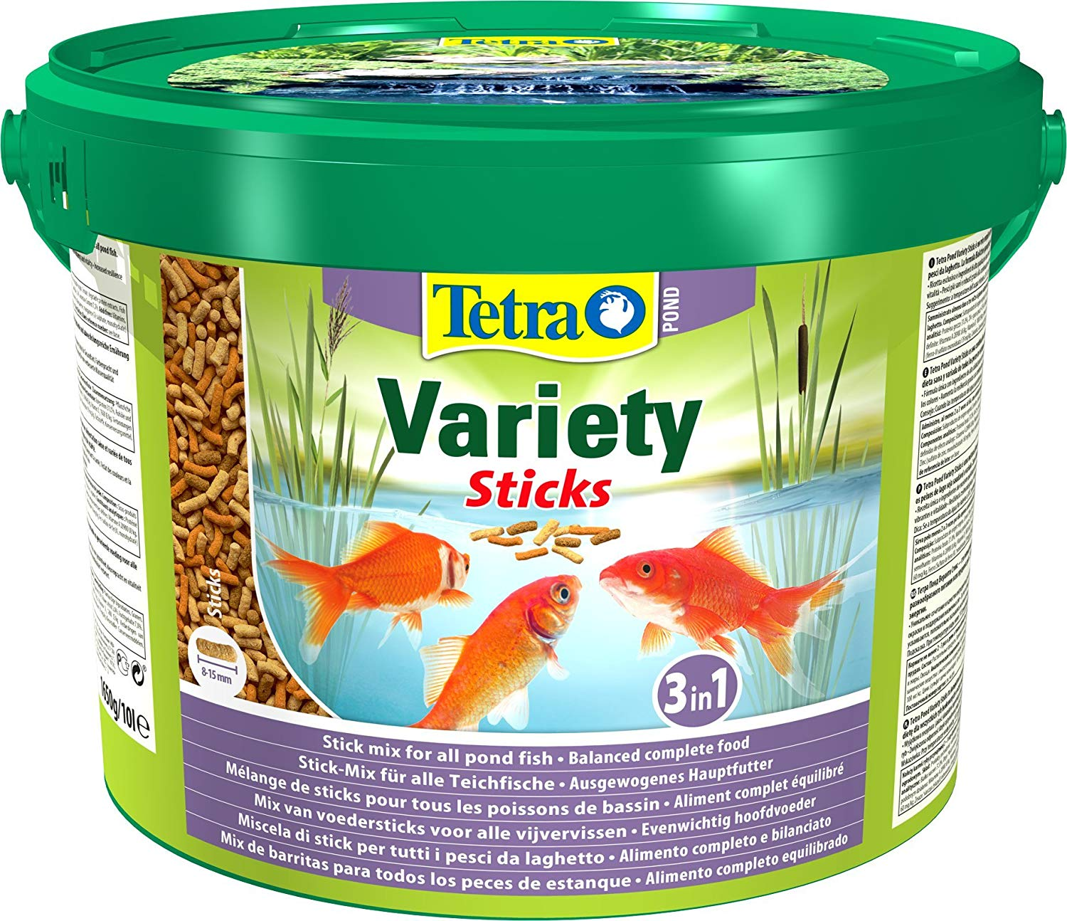 Tetra pond floating variety fish food sticks 1650g 10 for Koi pond sticks