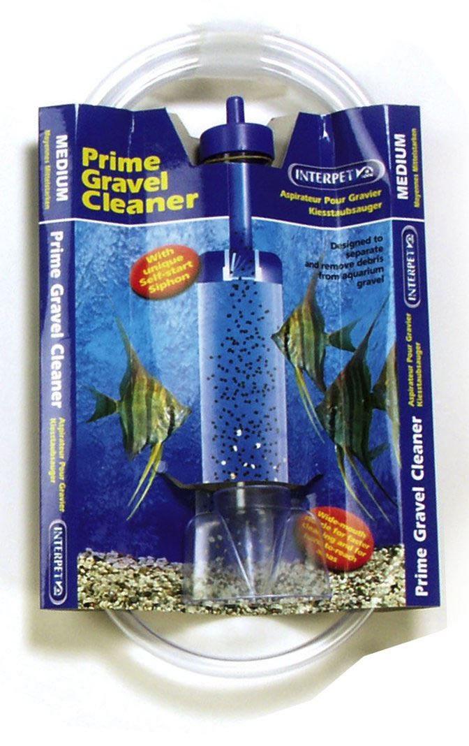 Fish & Aquariums Interpet Prime Gravel Cleaner Fish Tank Aquarium Self Start Syphon Siphon
