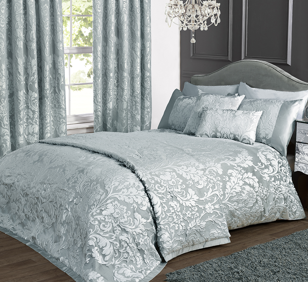 Charleston Duck Egg Cream Jacquard Bed Linen Collection