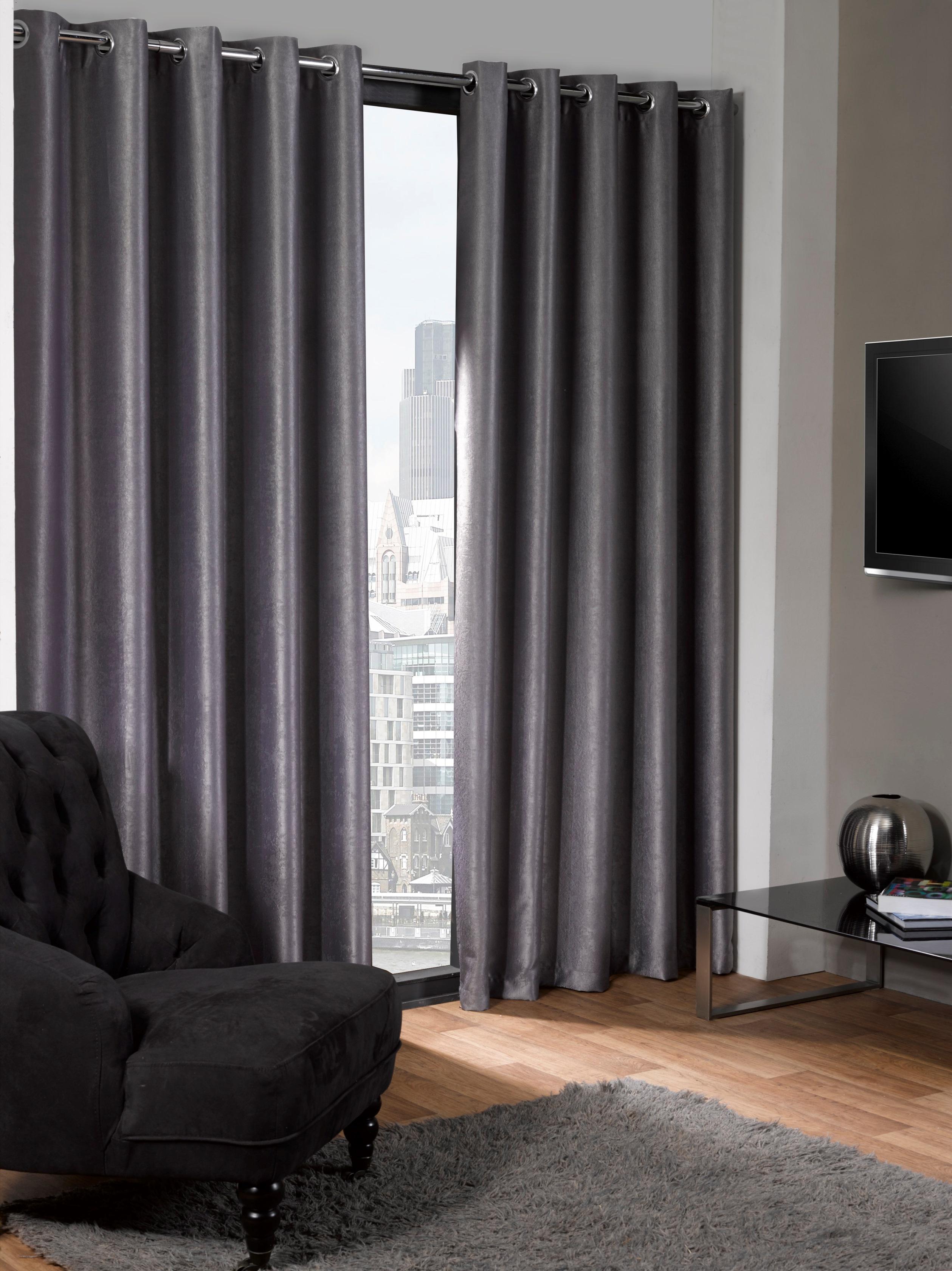 logan eco thermal blackout eyelet curtains 45 inch width x. Black Bedroom Furniture Sets. Home Design Ideas
