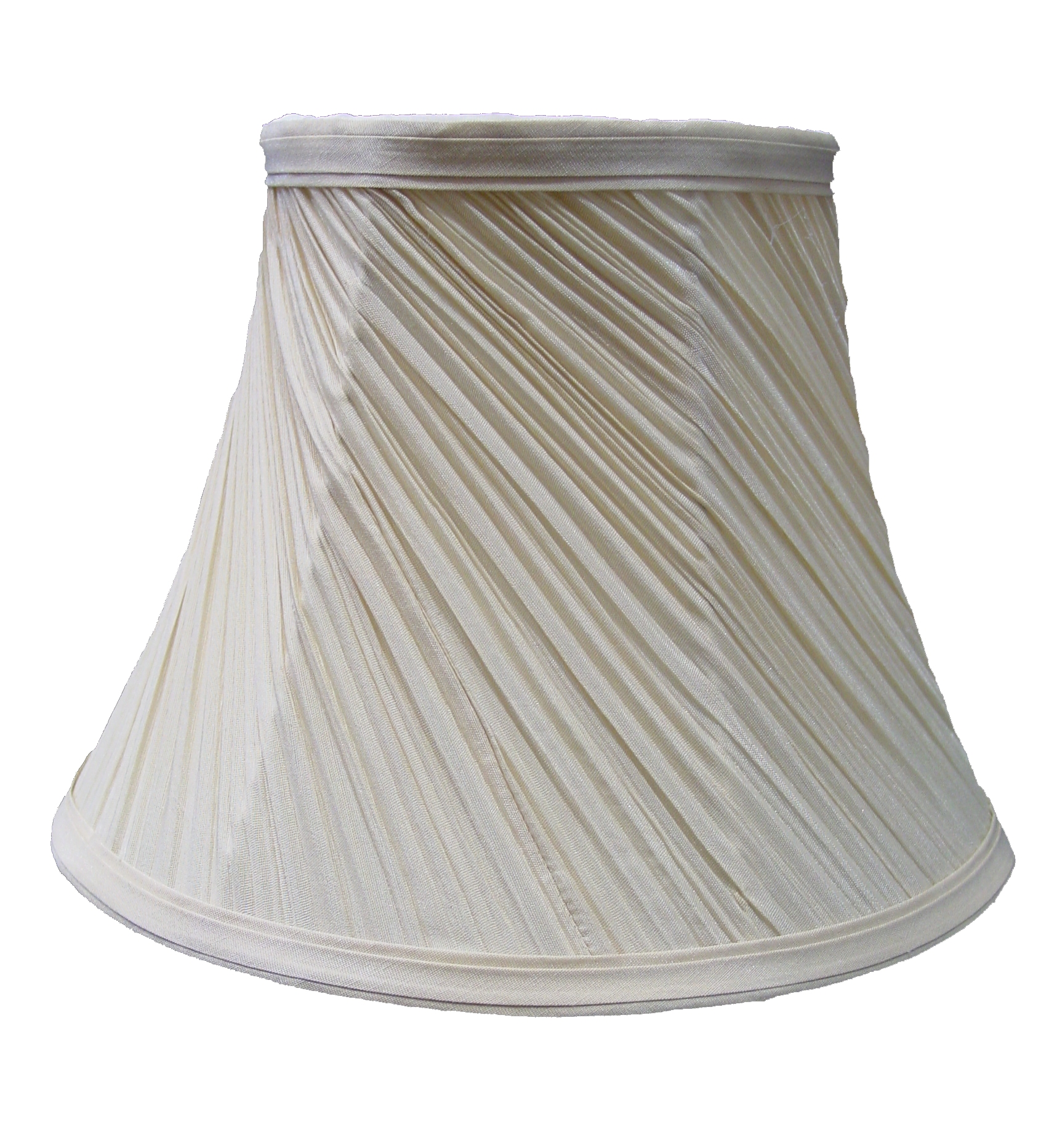 "Pleated Lamp Shades For Table Lamps: Classic 12"" Mushroom Swirl Pleated Ceiling Table Lamp"