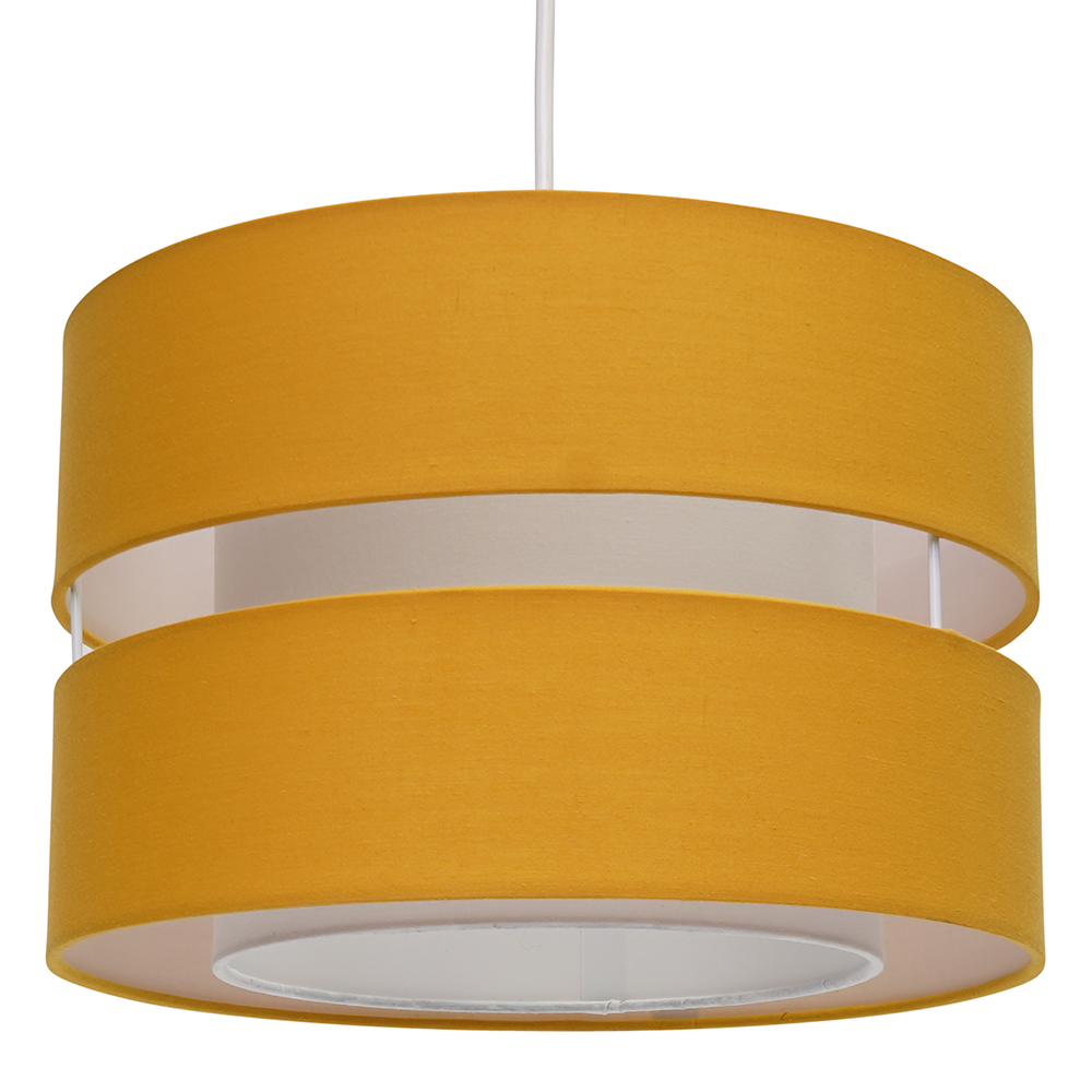 Easy Fit Pendant Lamp Shade Fabric Light Shade In Black