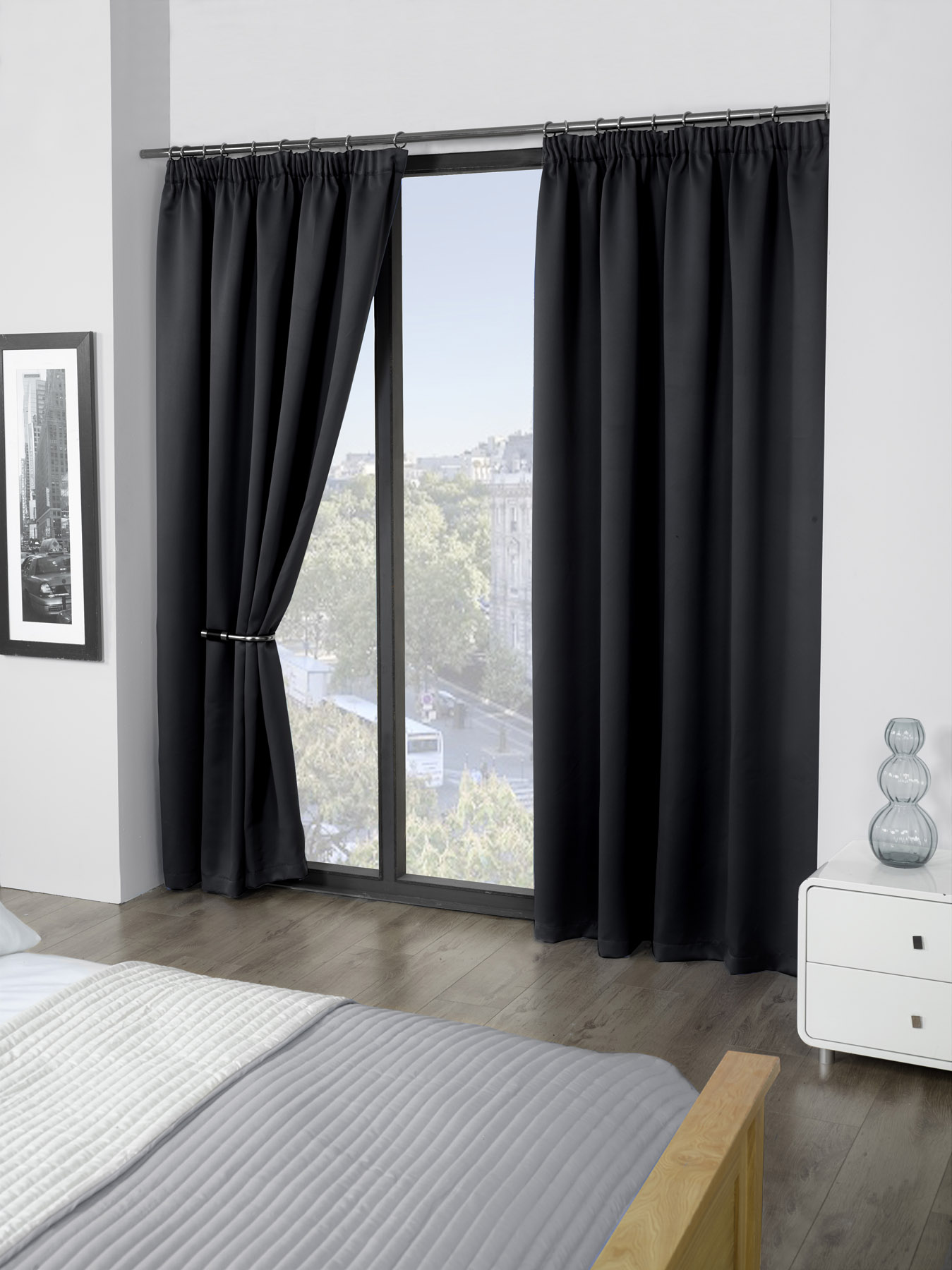 Cali Eco Thermal Blackout Tape Top Curtains 45 Quot Width X 72