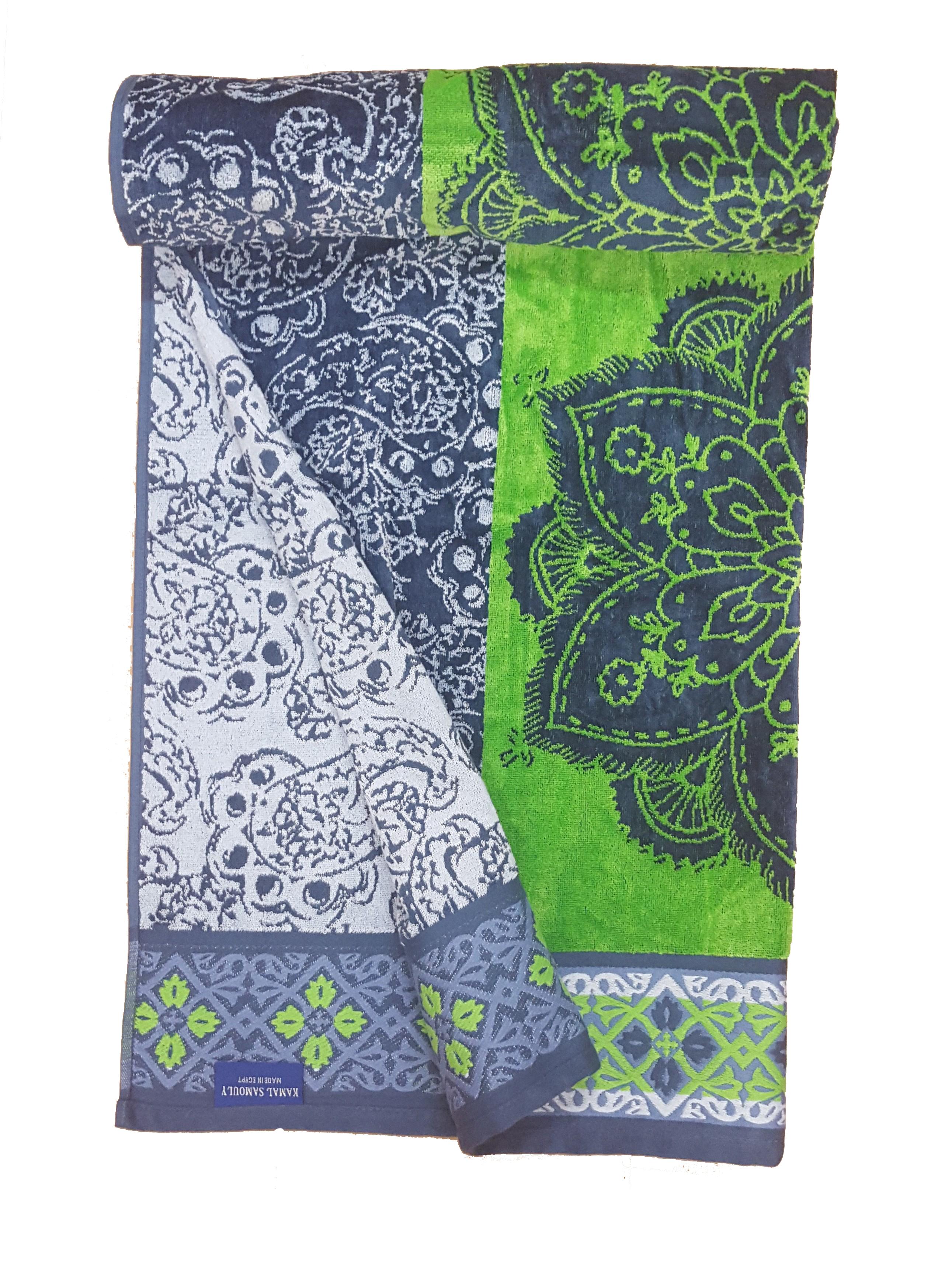 Printed Jumbo Velour Beach Towel 104cm 180cm 100% Egyptian Cotton ...