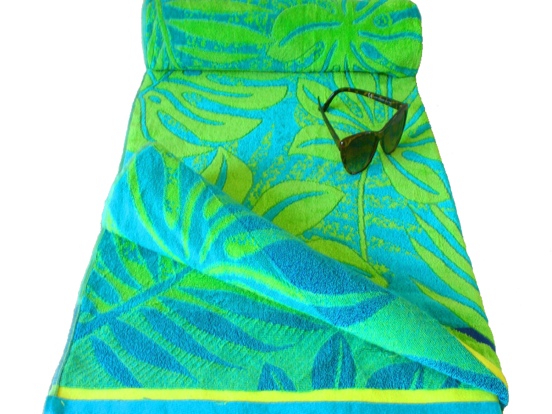 Printed Jumbo Velour Beach Towel 104cm 180cm 100 Egyptian