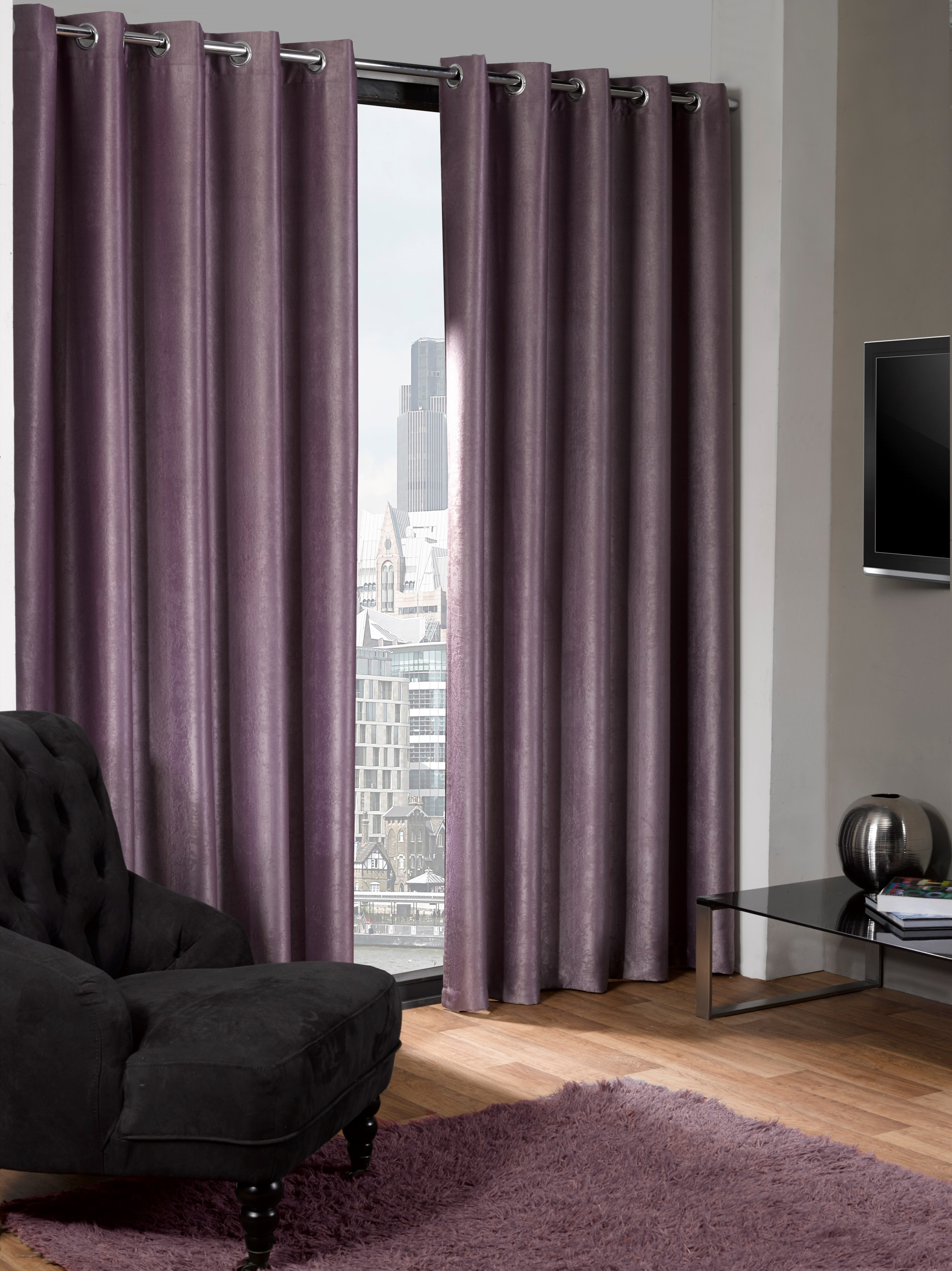 Logan ECO Thermal Blackout Eyelet Curtains 65 inch Width x 72 inch Drop