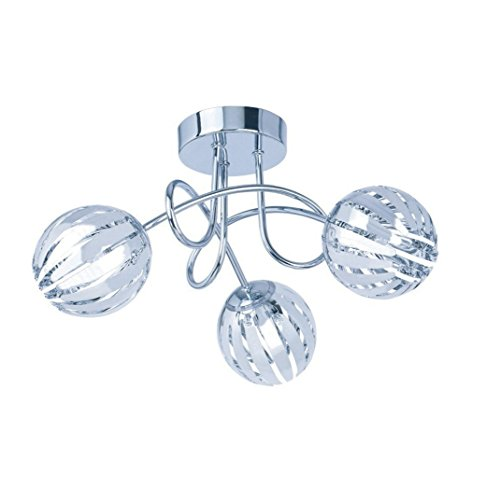 kliving minardi modern chrome clear acrylic 3 5 light chandelier