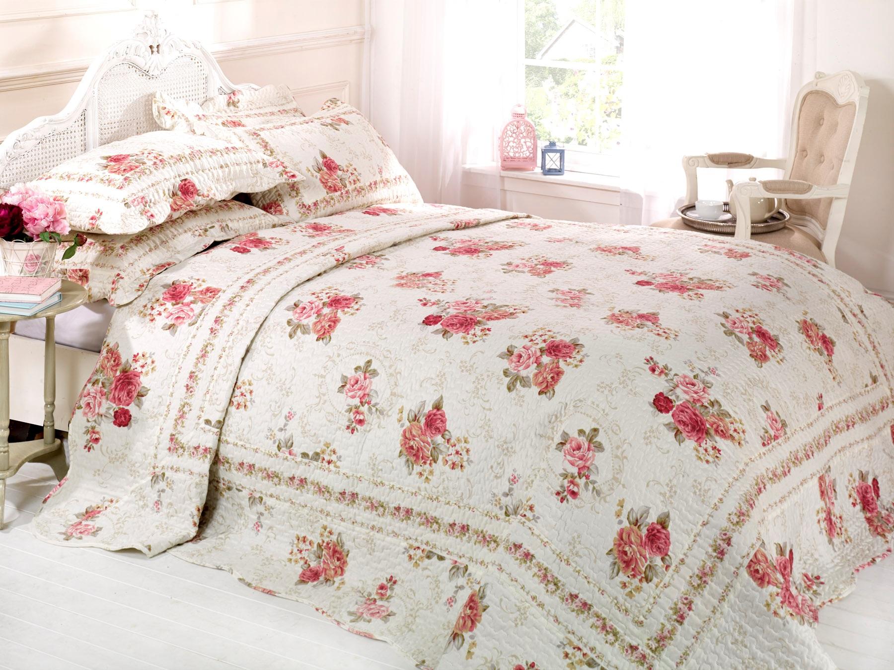Cordova rosso vinaccia a fiori rosa copriletto set singolo doppio matrimoniale ebay - Copriletto matrimoniale rosso ...