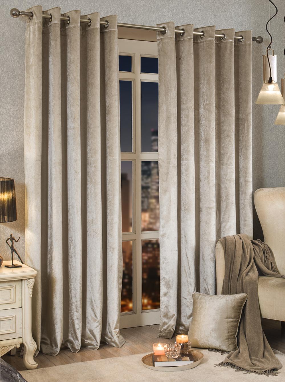 luxe velours doubl lourd paires porte illet rideaux 5 couleurs disponibles ebay. Black Bedroom Furniture Sets. Home Design Ideas