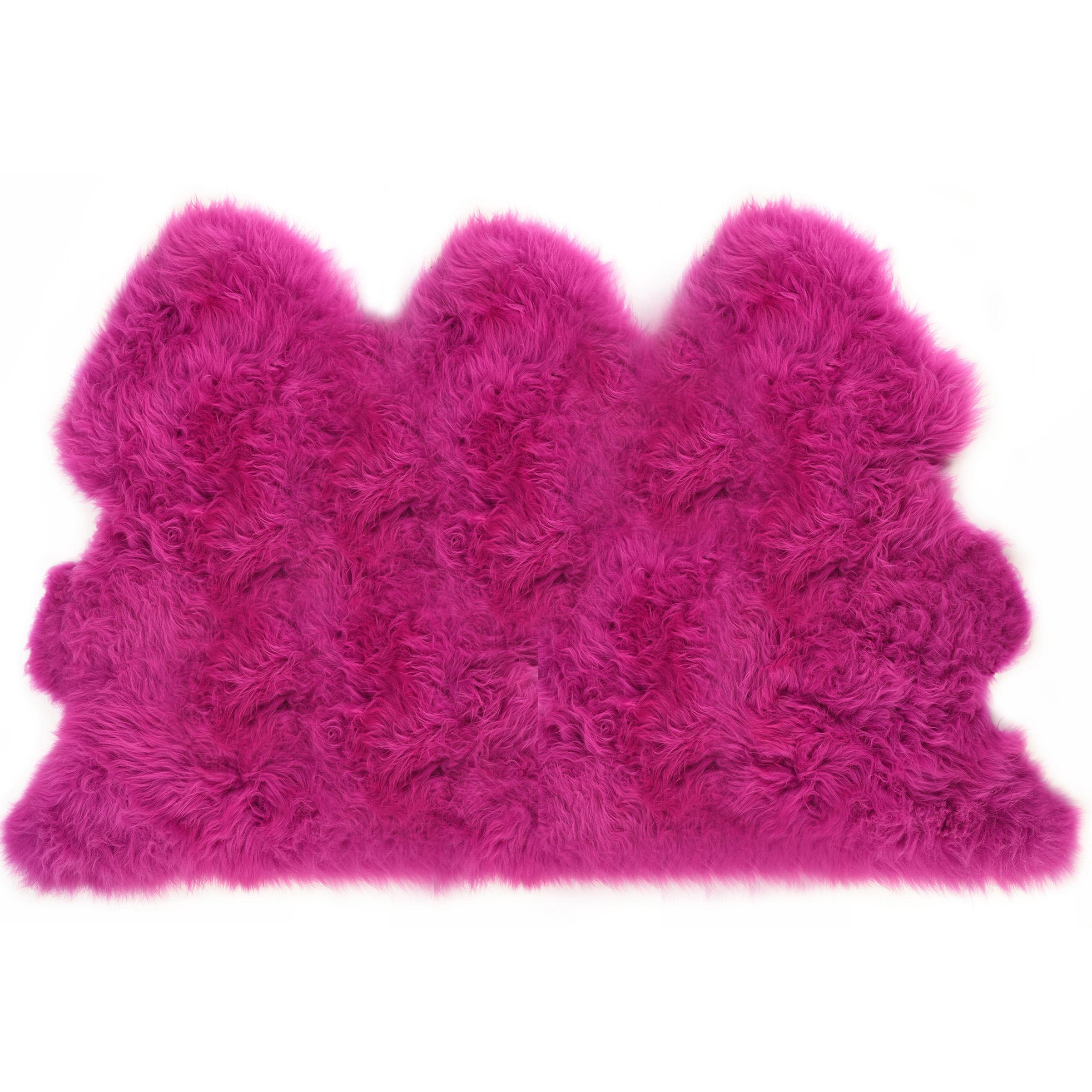 Doux Luxe Rose vif cerise cerise cerise UK D'Origine fait réel peau de mouton Tapis masquer Pelt   Boutique En Ligne  402732