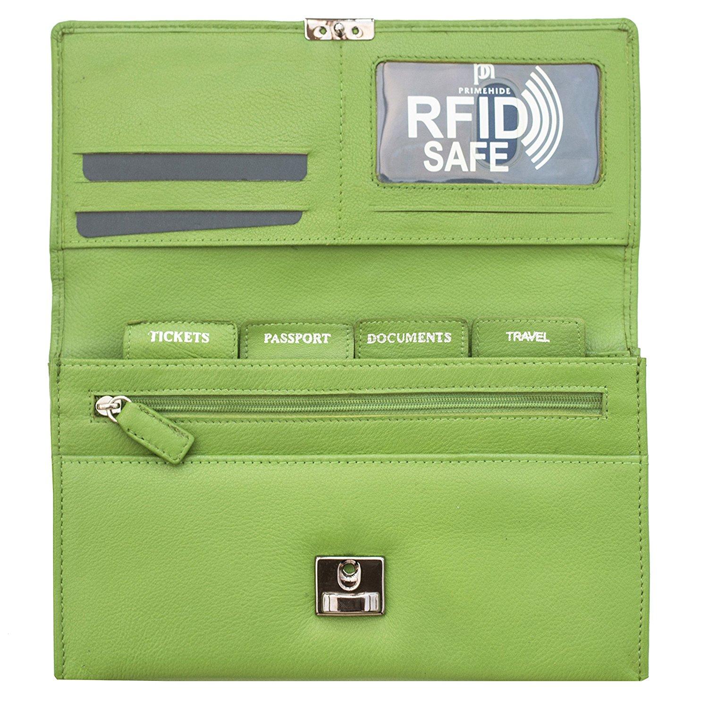 Homme-Femme-en-cuir-RFID-blocking-Travel-Planner-Wallet-Purse-Porte-passeport miniature 19