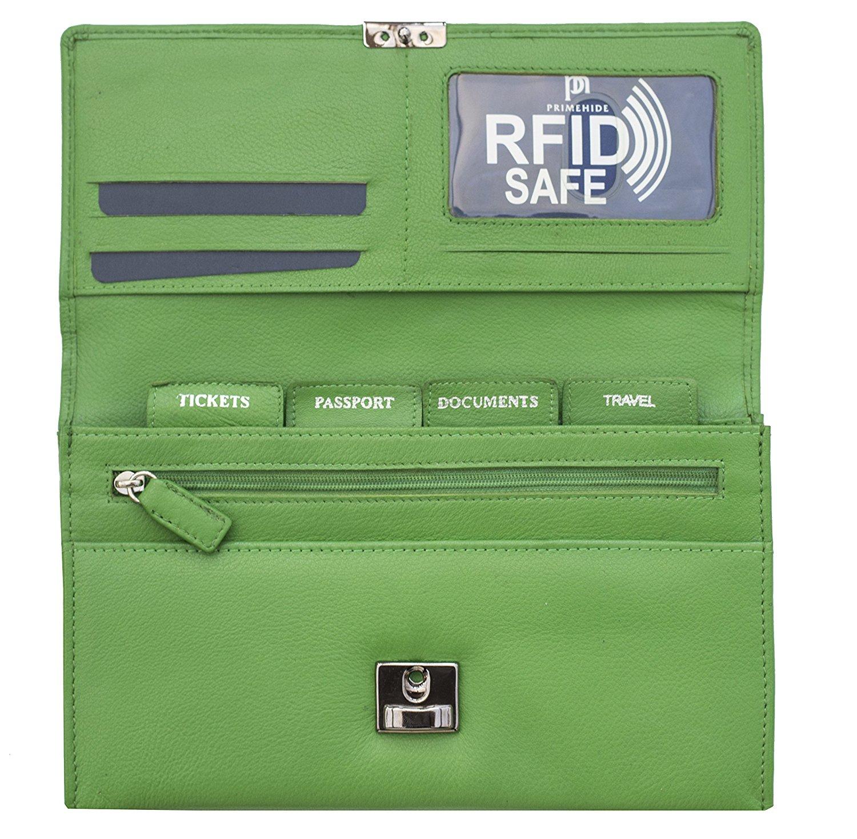 Homme-Femme-en-cuir-RFID-blocking-Travel-Planner-Wallet-Purse-Porte-passeport miniature 14