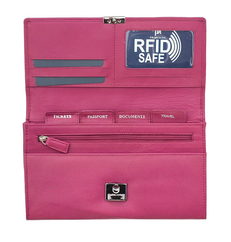 Homme-Femme-en-cuir-RFID-blocking-Travel-Planner-Wallet-Purse-Porte-passeport miniature 16