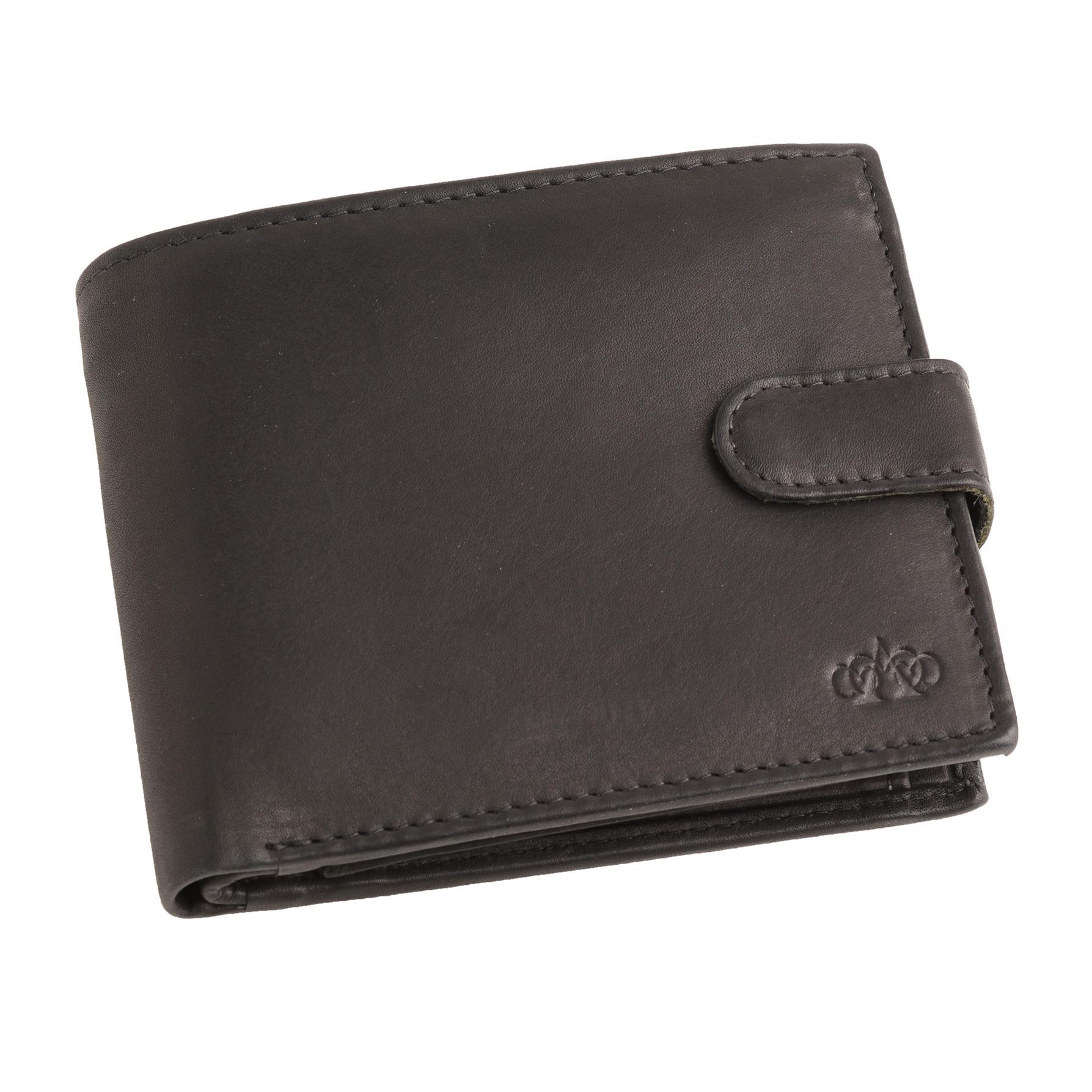 Mens-Gents-Super-Doux-Cuir-Veritable-Portefeuille-RFID-Bloquant-Coin-Holder-Noir miniature 5