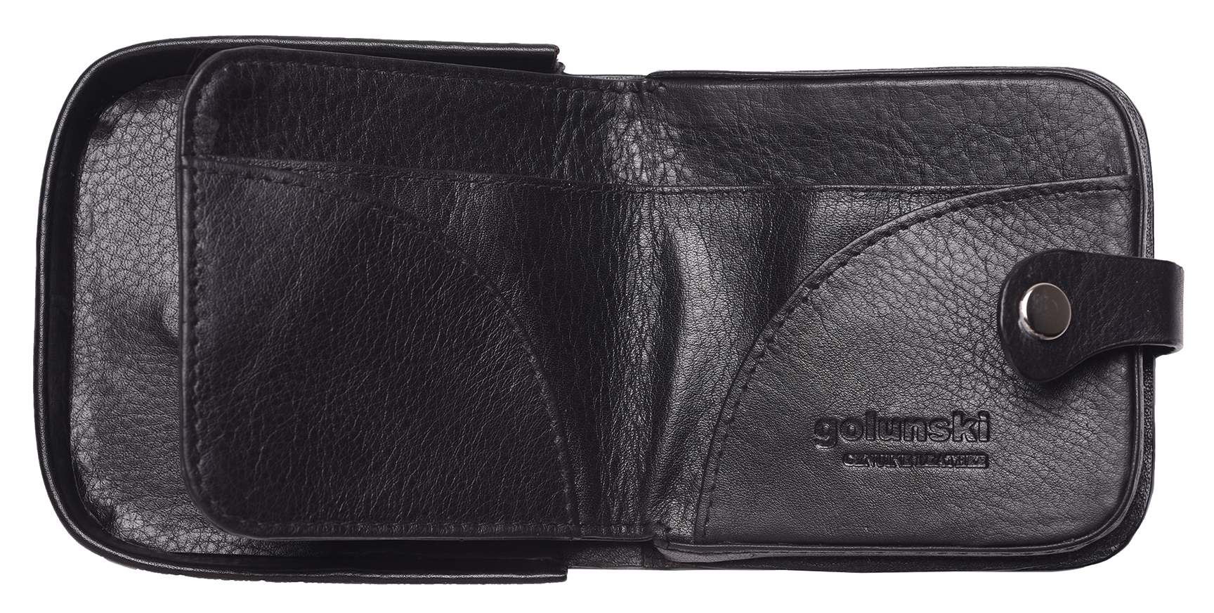 Mens-Gents-Cuir-Veritable-Souple-Changement-Coin-Holder-Wallet-Purse-Black-Tan miniature 10