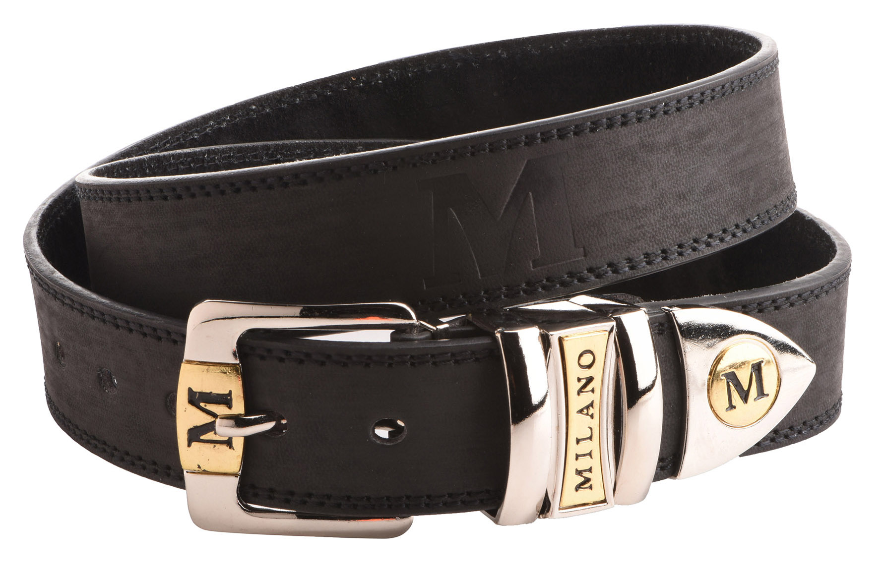 """Mens 1.25""""  Real Genuine Leather Backed Chunky Belt"""