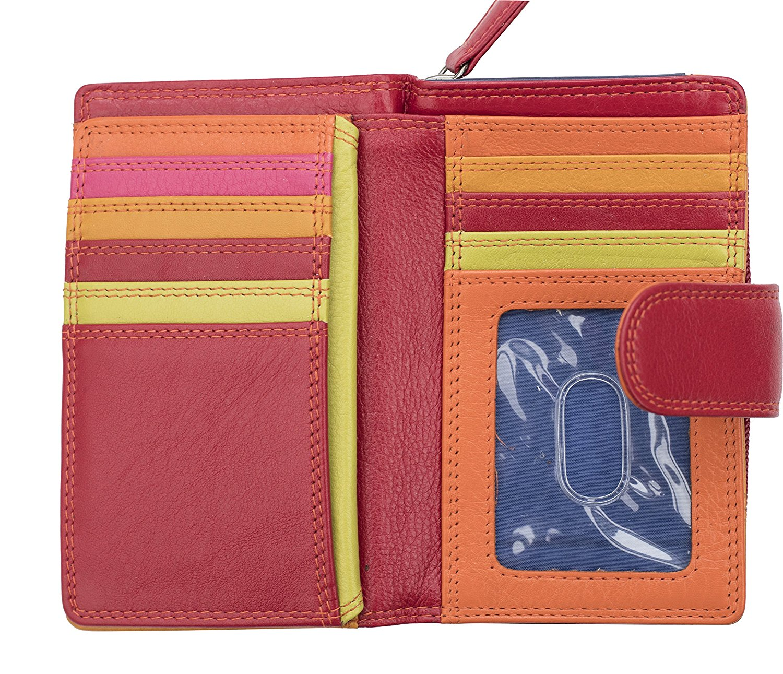 Femmes-De-Luxe-Multi-Couleur-Cuir-Purse-Wallet-Coin-Holder-RFID-Bloquant miniature 9