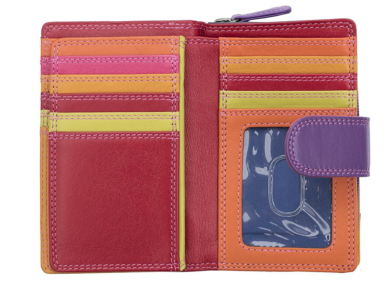 Femmes-De-Luxe-Multi-Couleur-Cuir-Purse-Wallet-Coin-Holder-RFID-Bloquant miniature 5