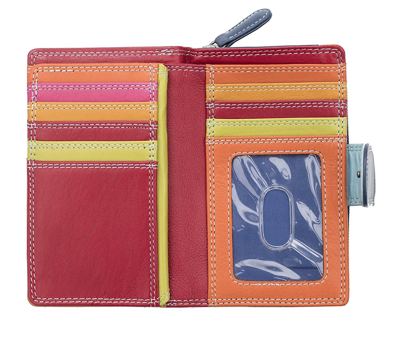 Femmes-De-Luxe-Multi-Couleur-Cuir-Purse-Wallet-Coin-Holder-RFID-Bloquant miniature 16