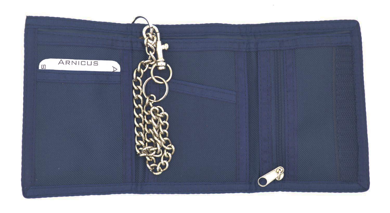 Homme-Garçons Toile Ripper Portefeuille avec chaîne de sécurité et pièces zippée porte