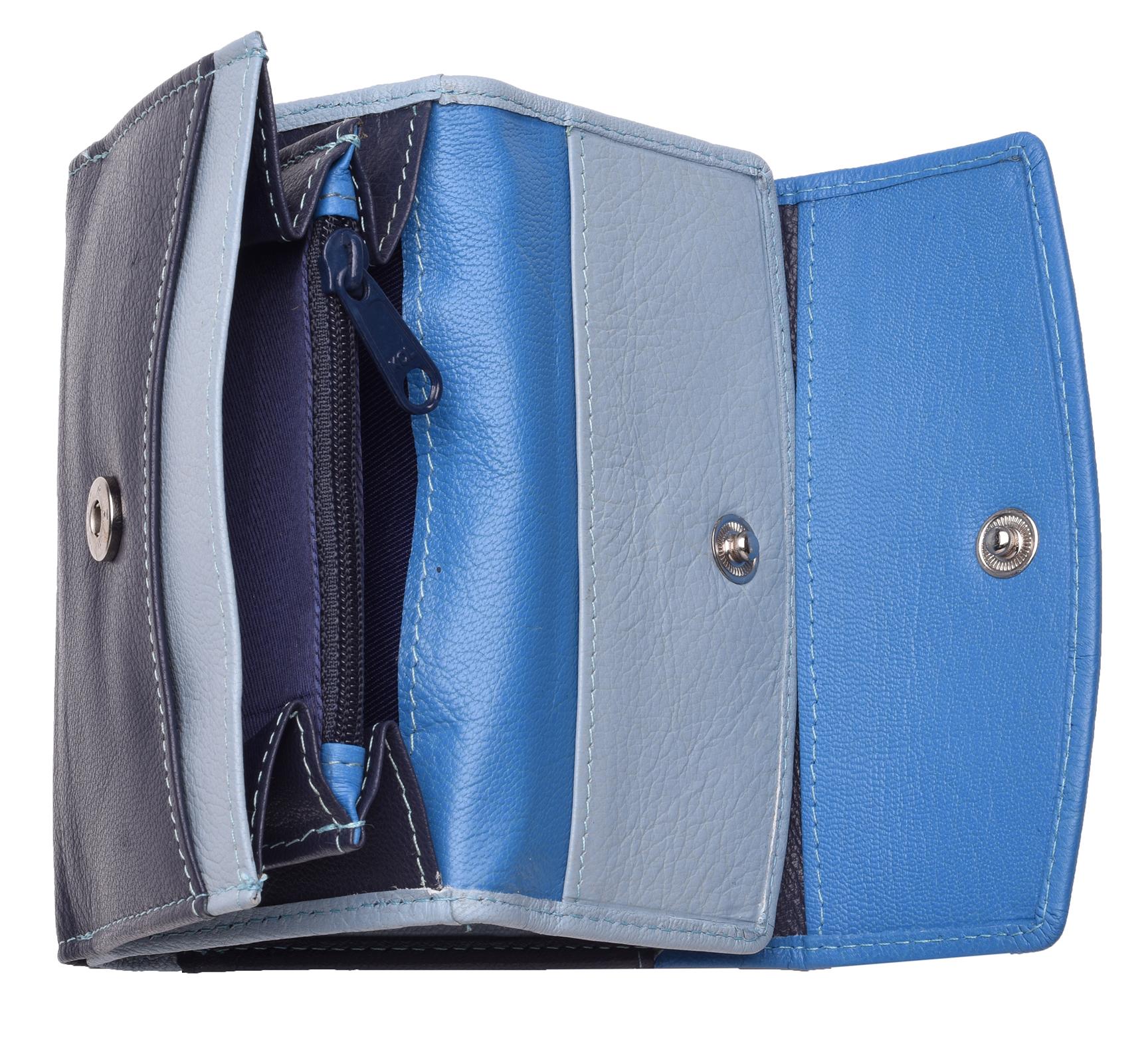 Femme-Multi-Couleur-RFID-Bloquant-en-cuir-veritable-sac-a-main-bleu-violet-noir miniature 19