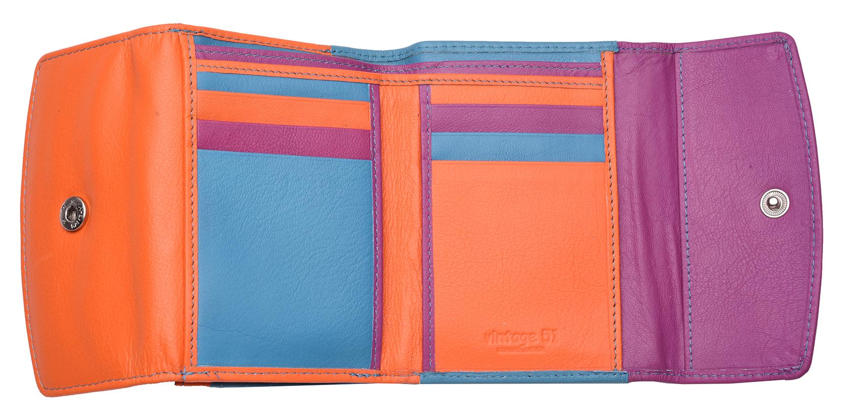 Femme-Multi-Couleur-RFID-Bloquant-en-cuir-veritable-sac-a-main-bleu-violet-noir miniature 6